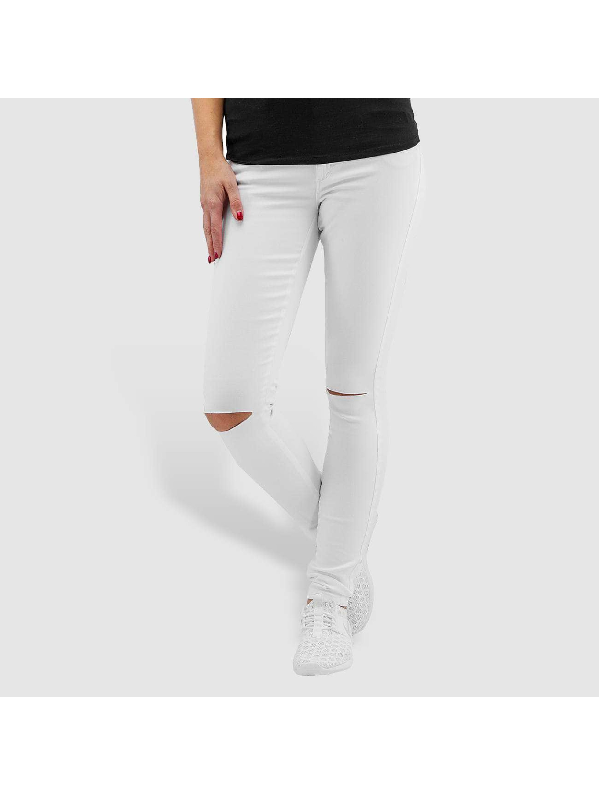 Only Frauen Skinny Jeans onlRoyal Regular Waist Skinny Kneecut in weiß