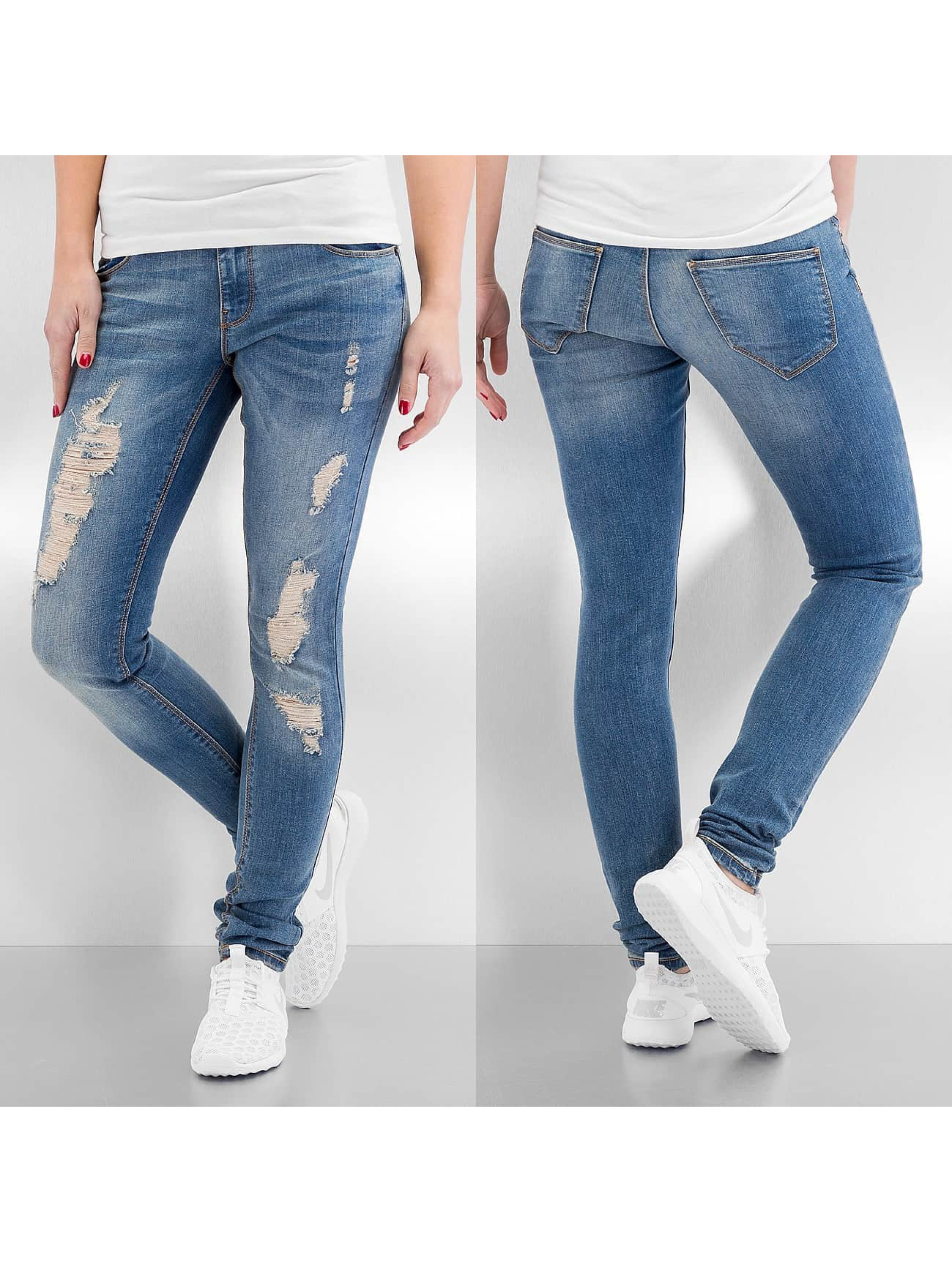 Vero Moda Frauen Skinny Jeans vmFive Low Super Slim in blau