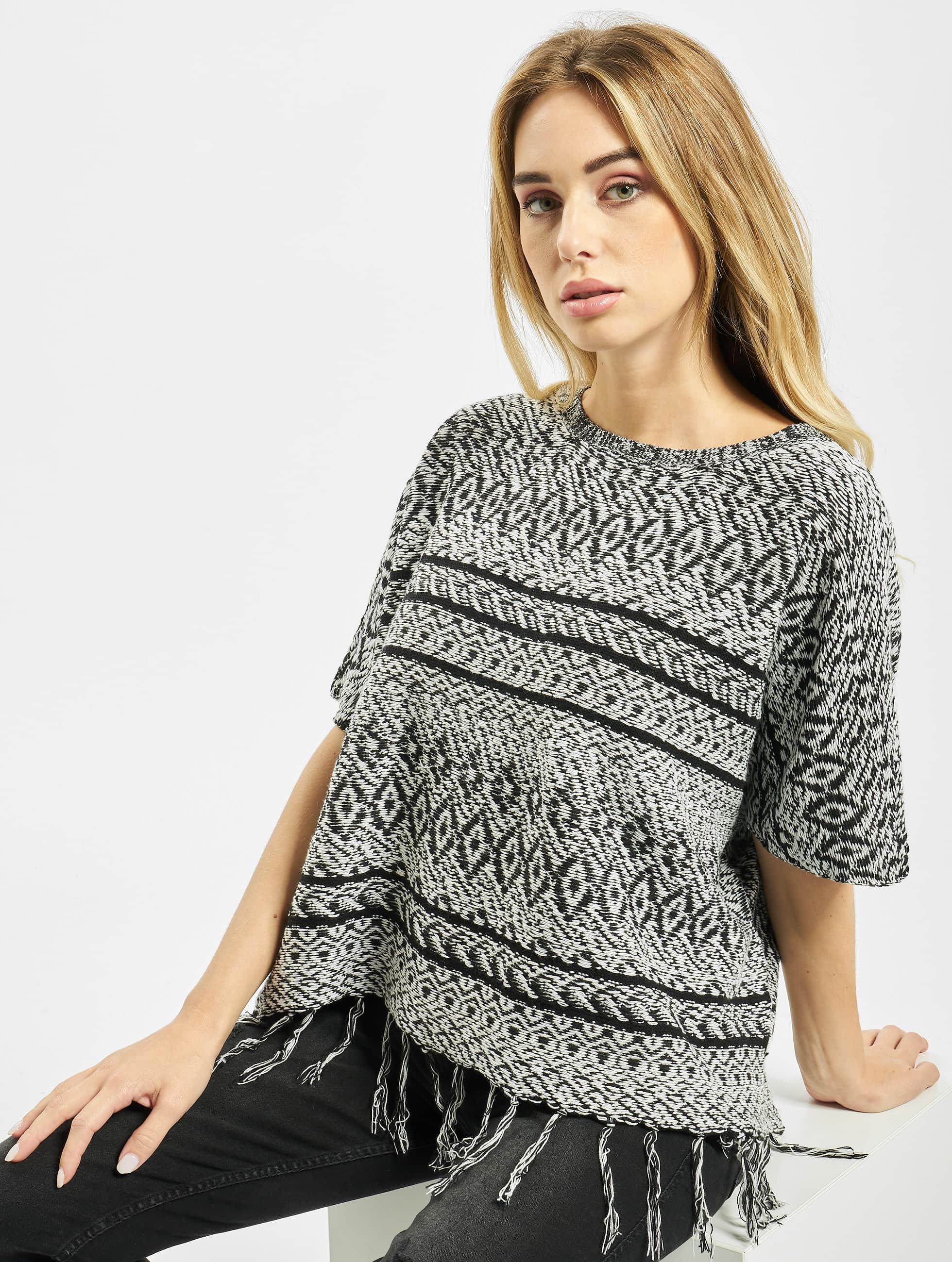 Only Frauen Pullover onlArdenay 2/4 Knit Poncho in schwarz