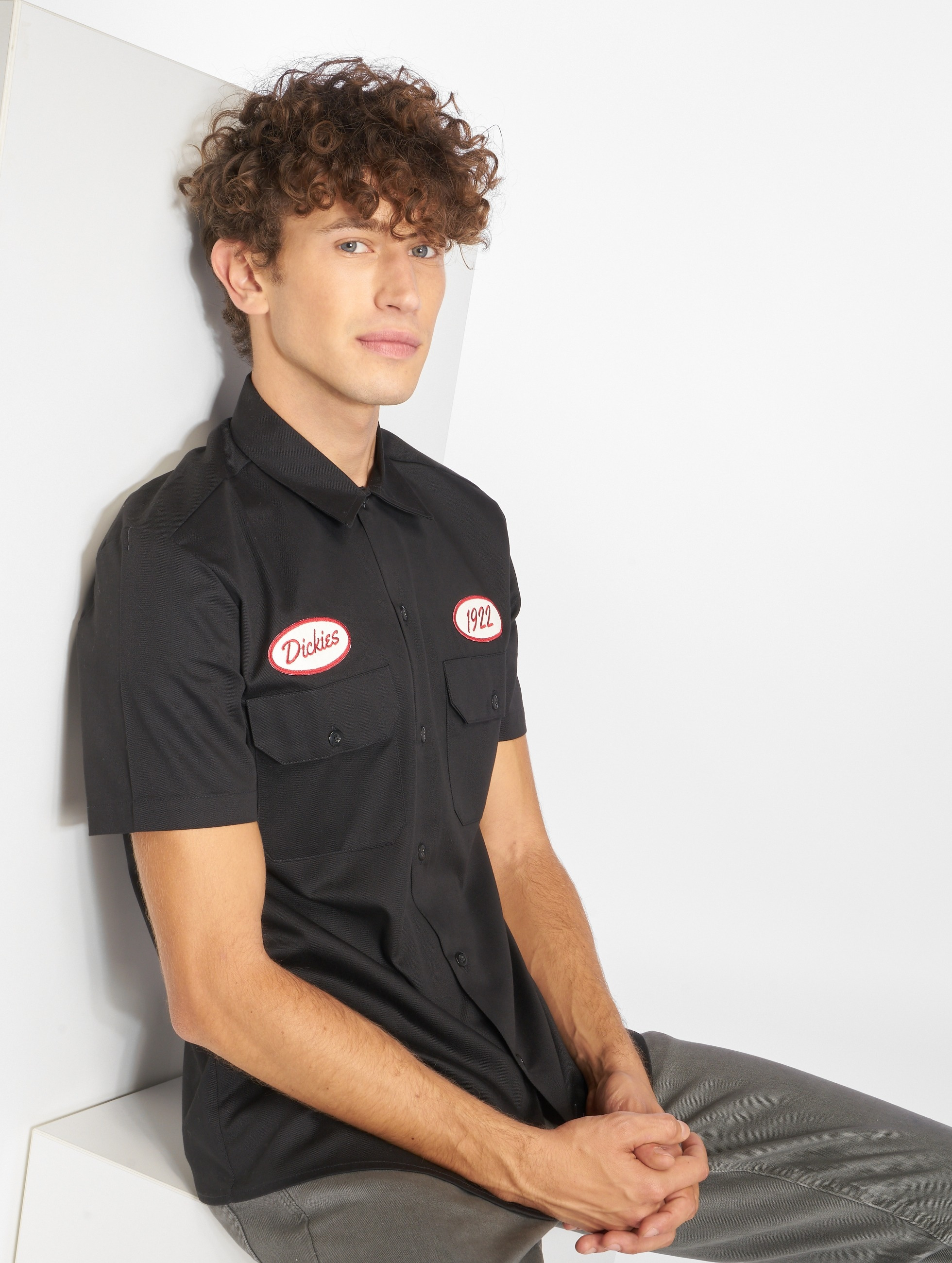 Dickies Rotonda South Shirt Black Sale Angebote Hosena