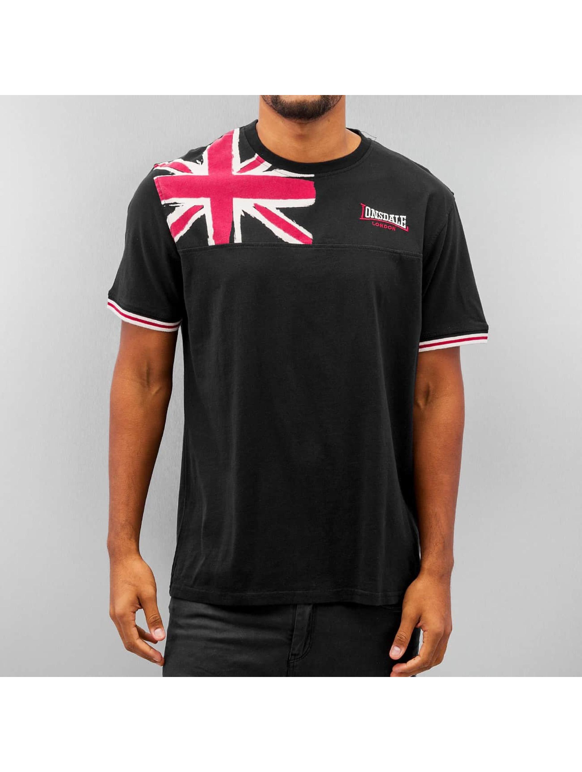 Lonsdale London Männer T-Shirt Leybourne in schwarz