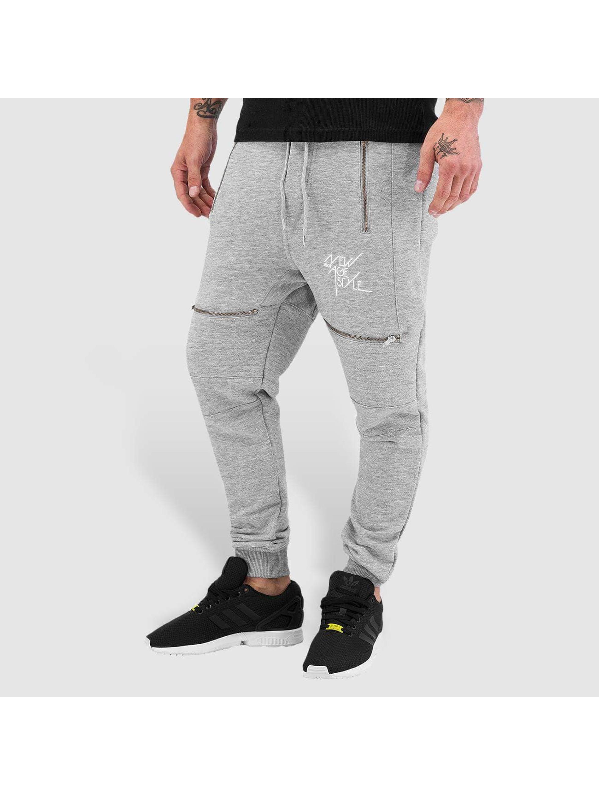 VSCT Clubwear Männer Jogginghose Lowcrotch Biker in grau