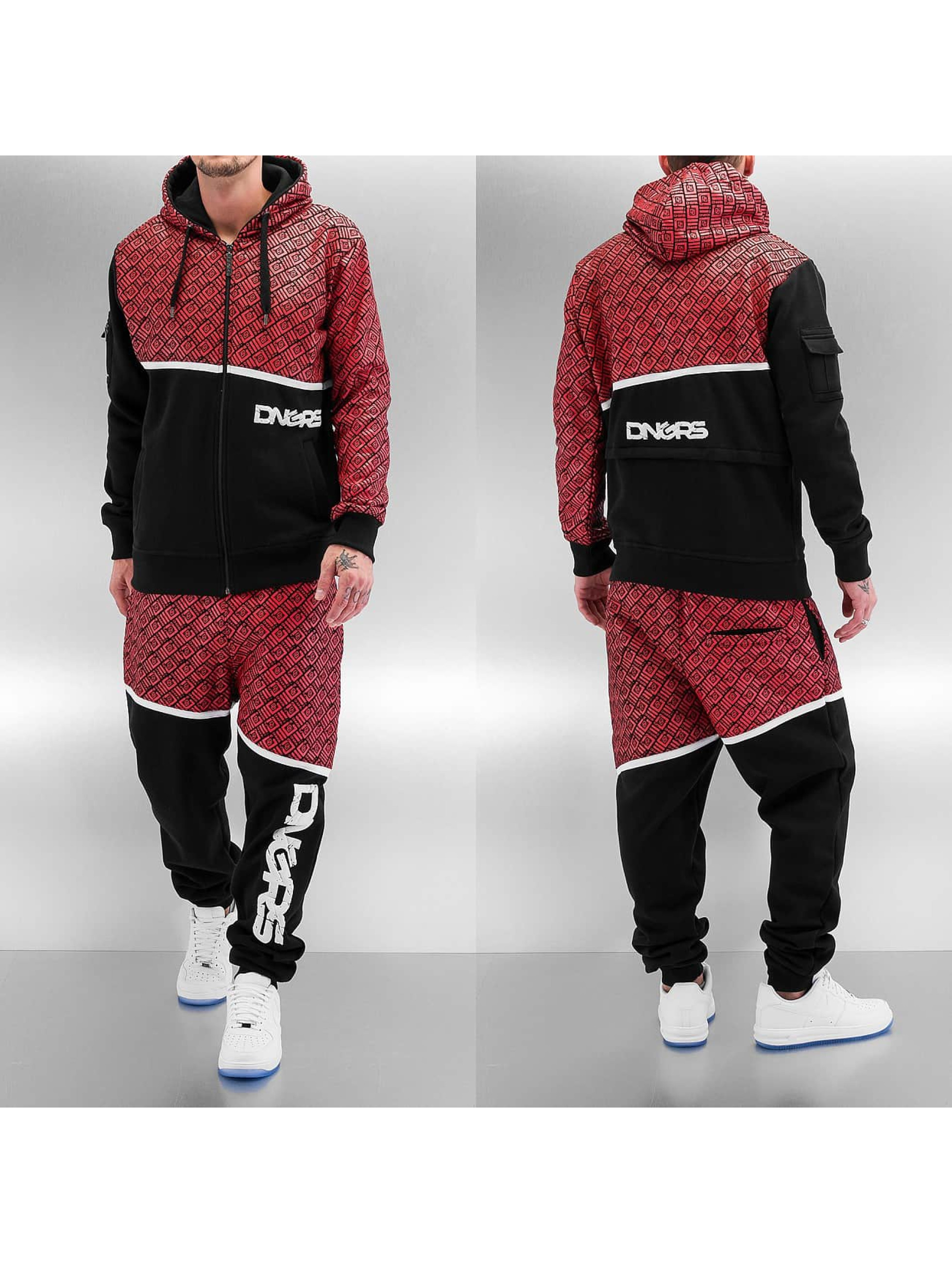 Dangerous DNGRS All Over Sweat Suit Black Red