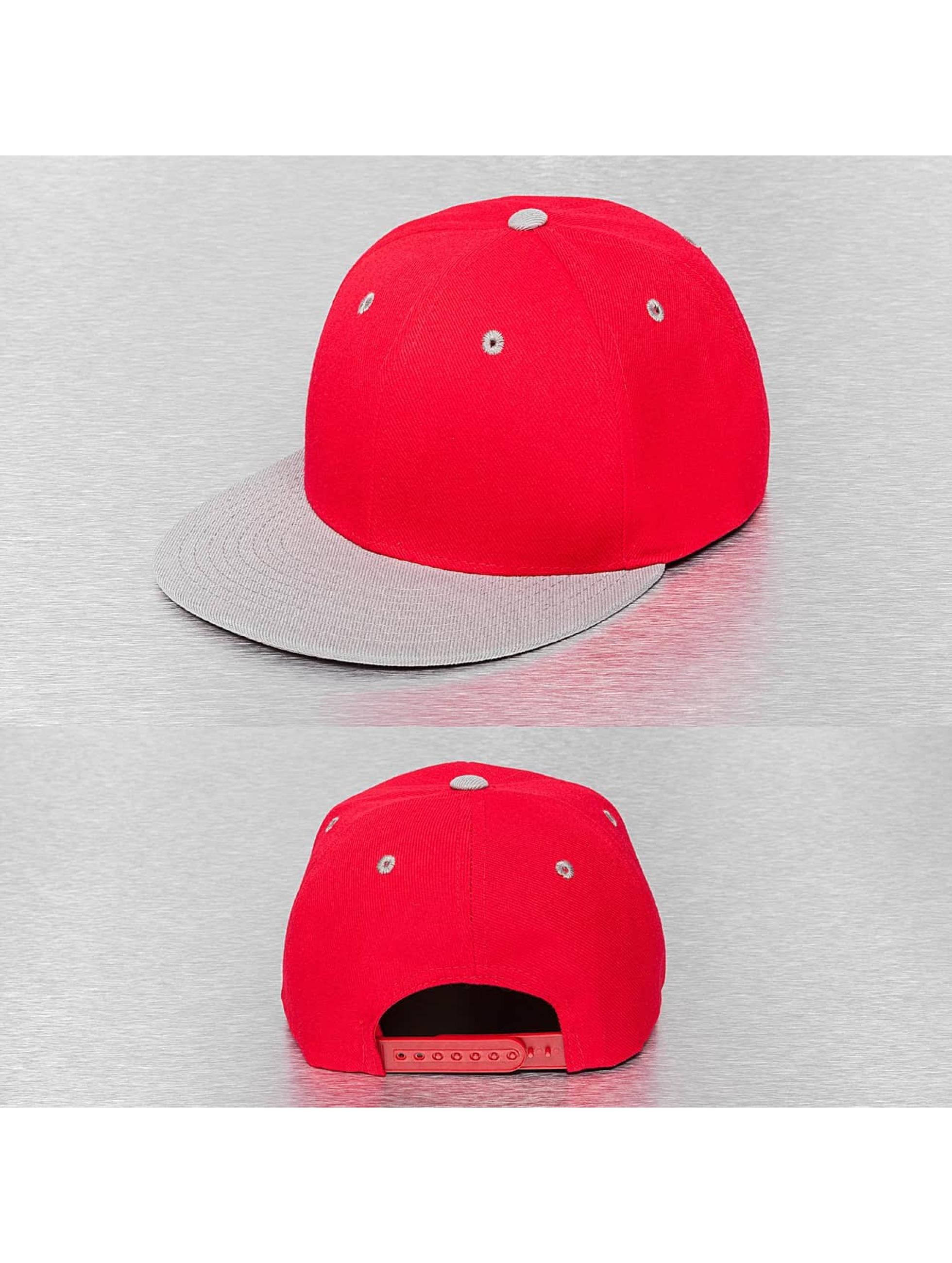 Cap Crony Männer,Frauen Snapback Cap Two Tone Flat Bill in rot