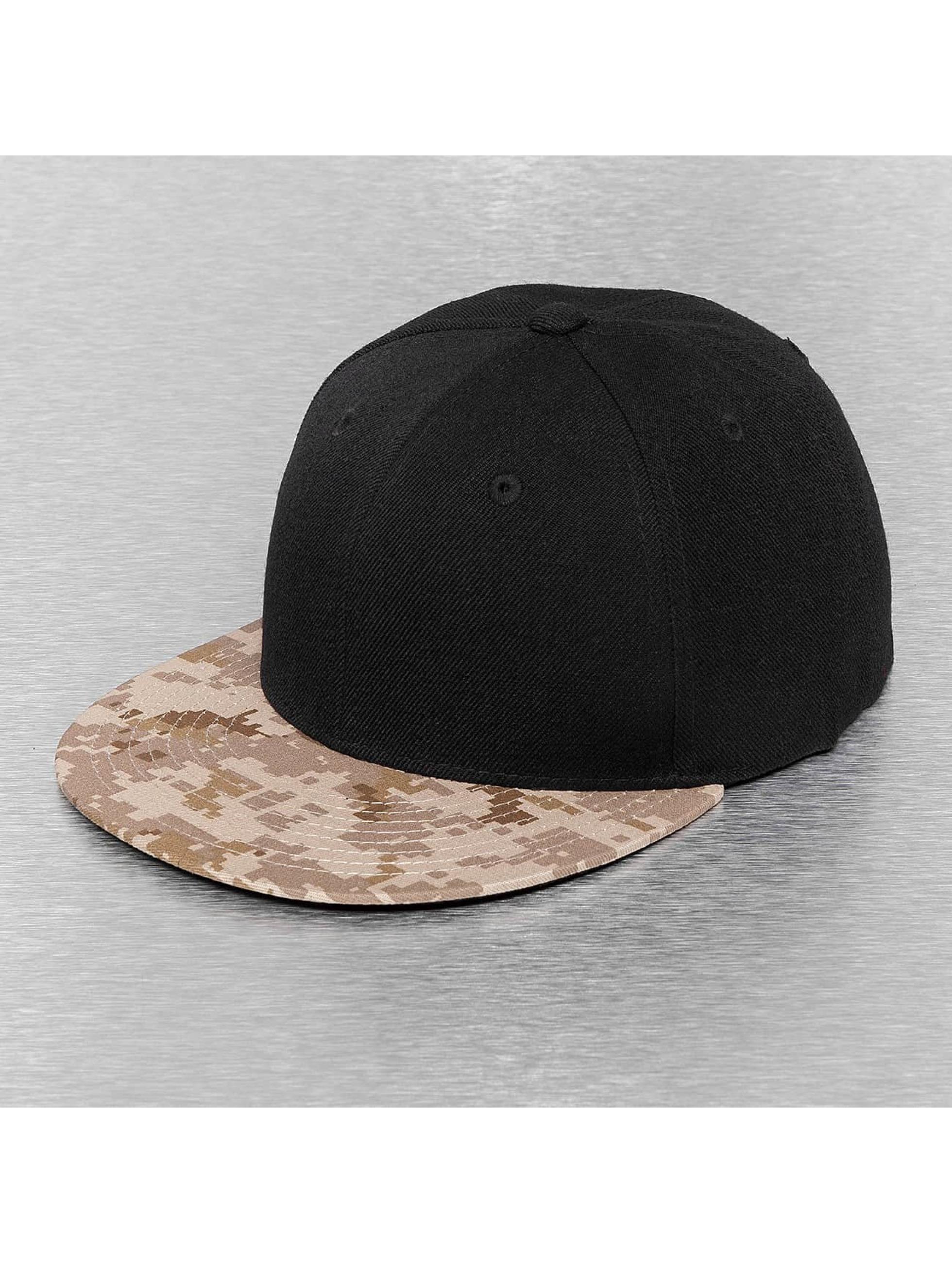 Cap Crony Männer,Frauen Snapback Cap Camo Bill in schwarz