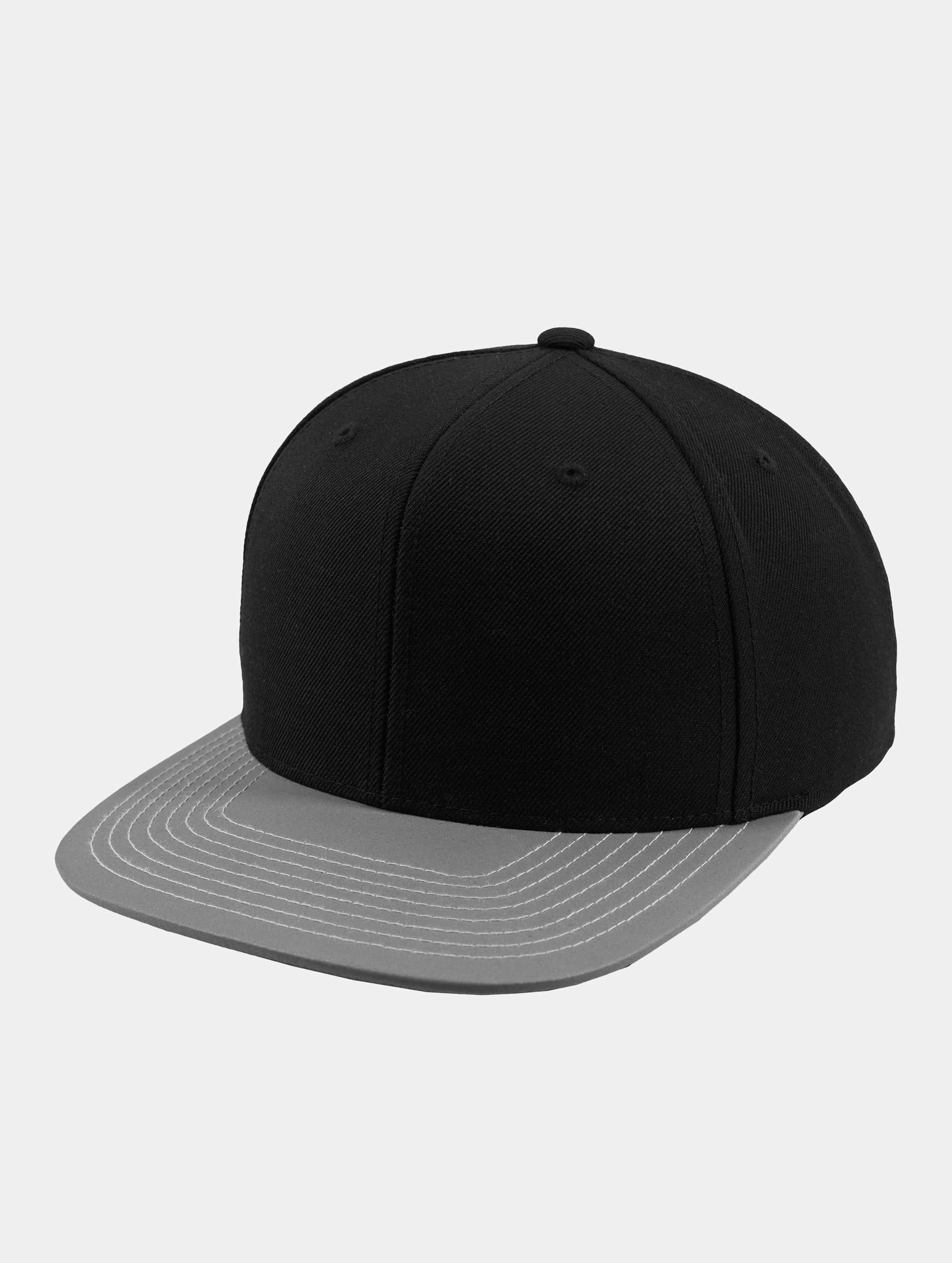 Flexfit Männer,Frauen Snapback Cap Reflective Visor in schwarz