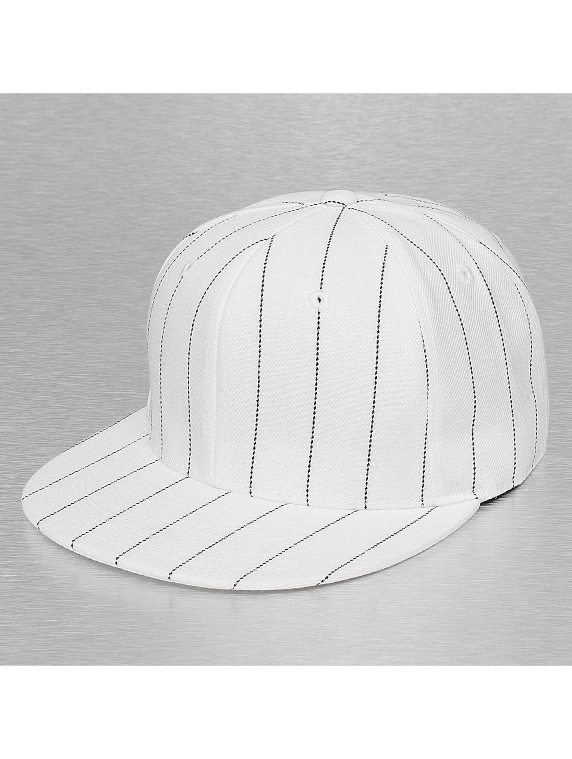 Cap Crony Männer,Frauen Fitted Cap Pin Striped in weiß