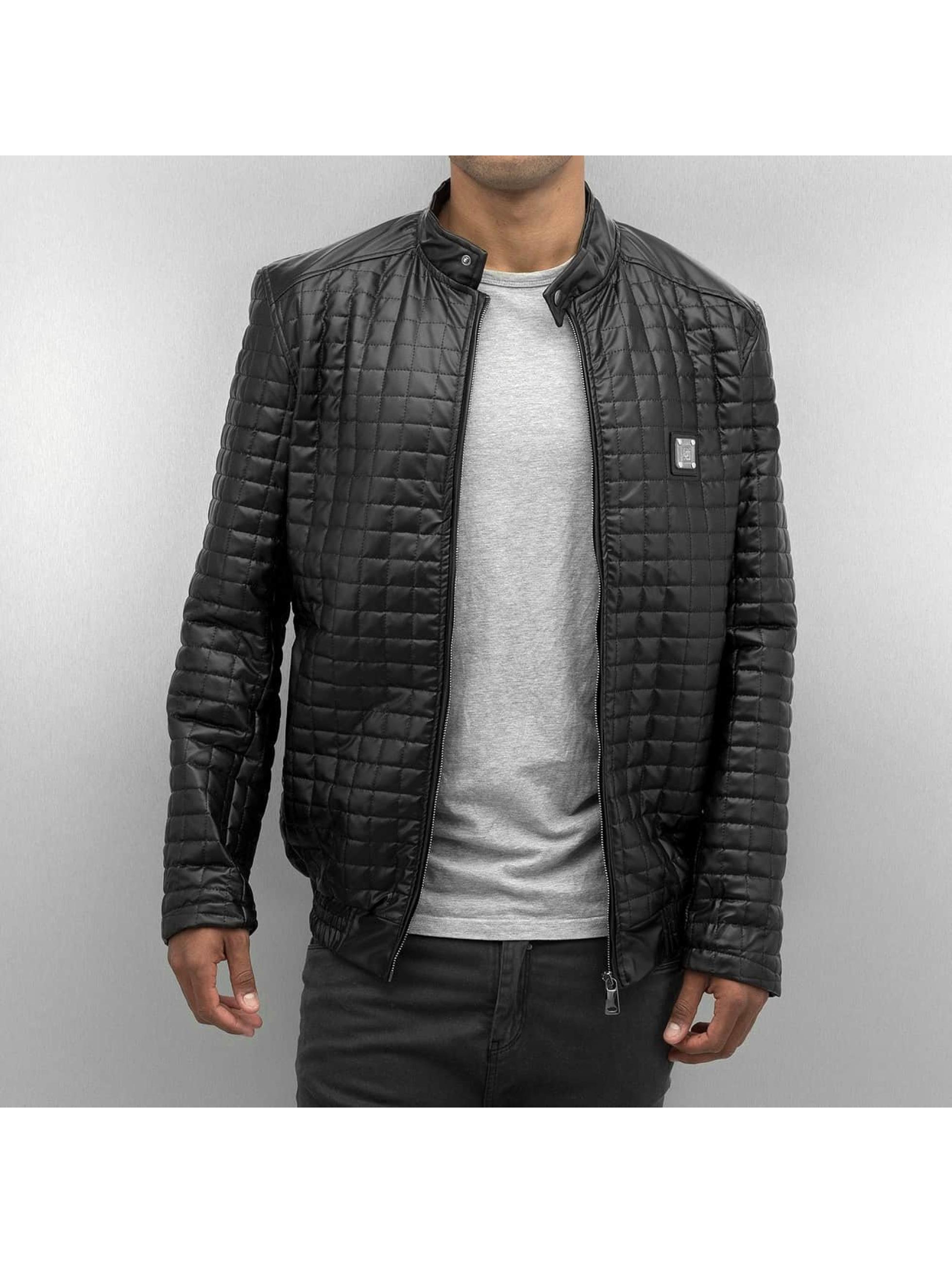Dangerous DNGRS Männer Lederjacke PU Leather in schwarz