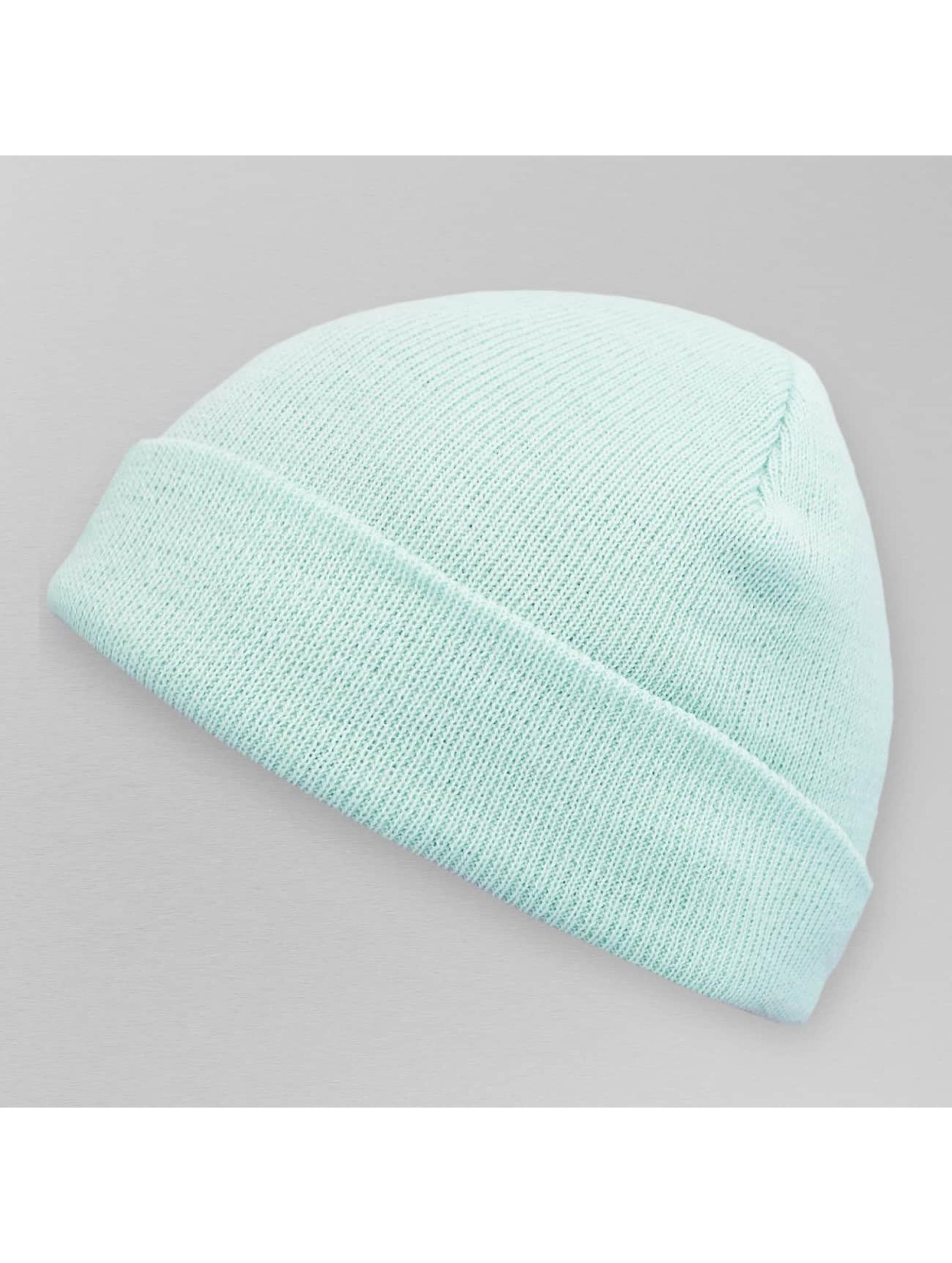 MSTRDS Männer,Frauen Beanie Pastel Basic Flap in blau