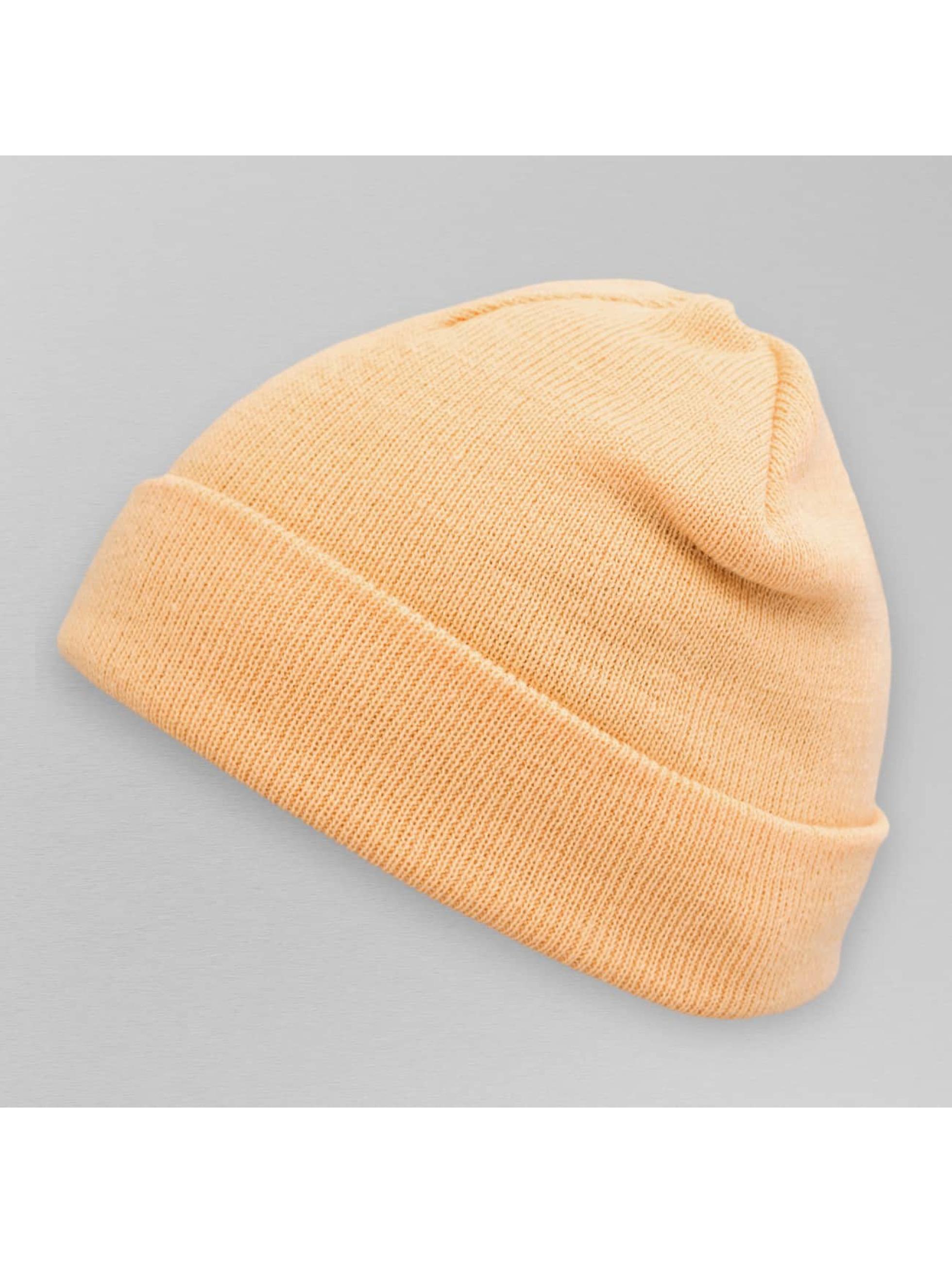 MSTRDS Männer,Frauen Beanie Pastel Basic Flap in orange