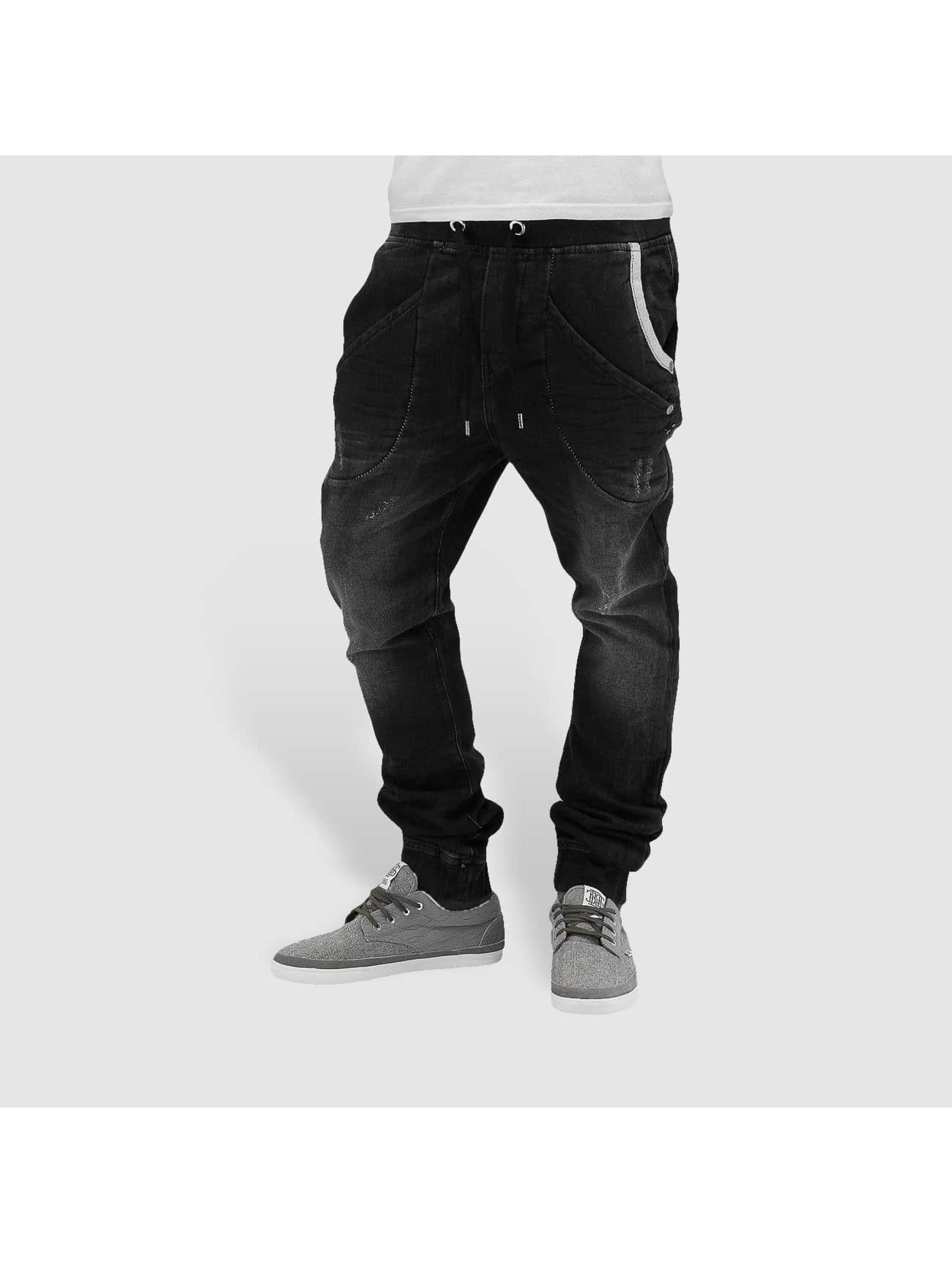 Red Bridge Männer Jogginghose Jeans in schwarz