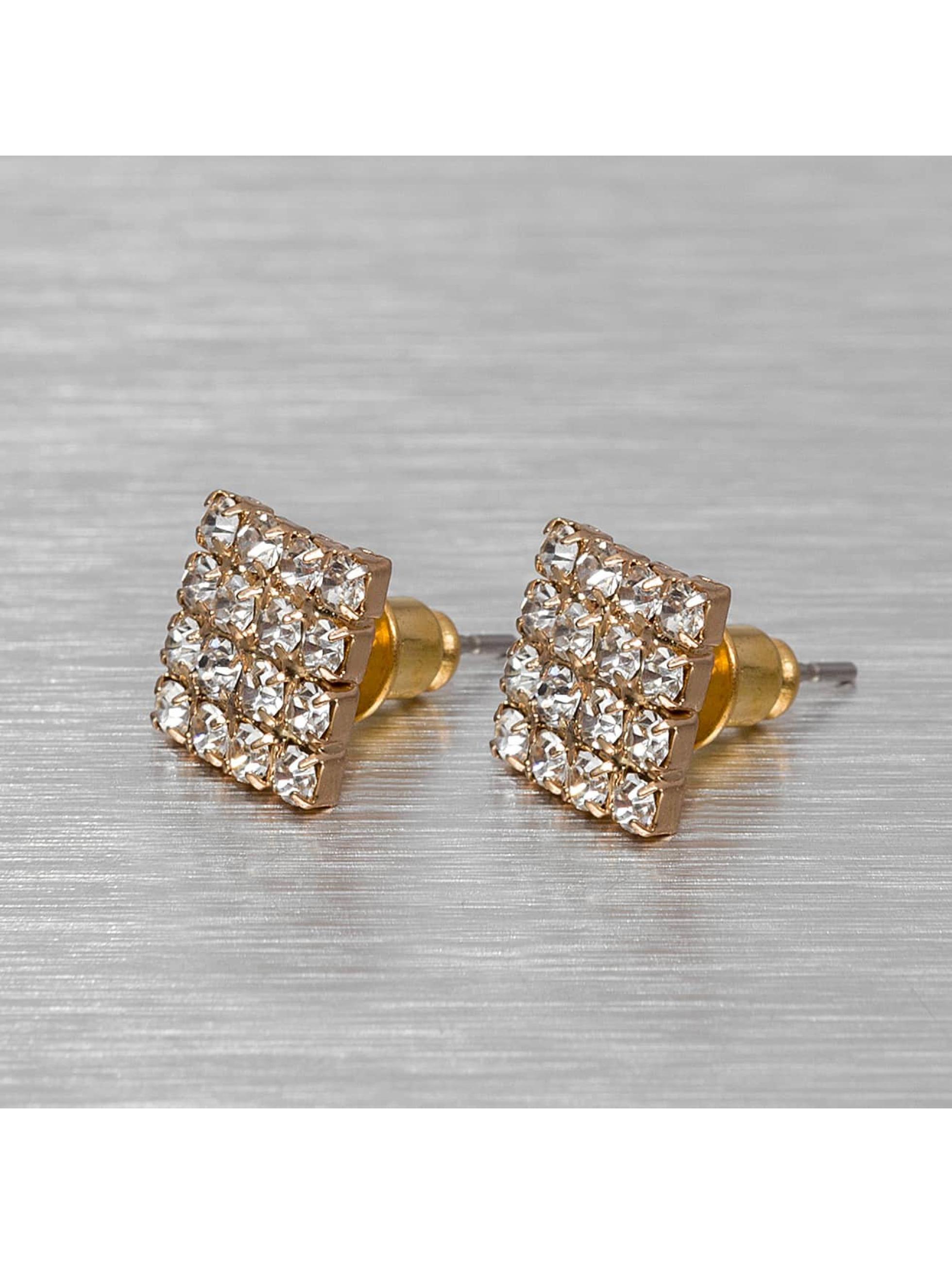 MSTRDS Männer,Frauen Ohrringe Flat in goldfarben