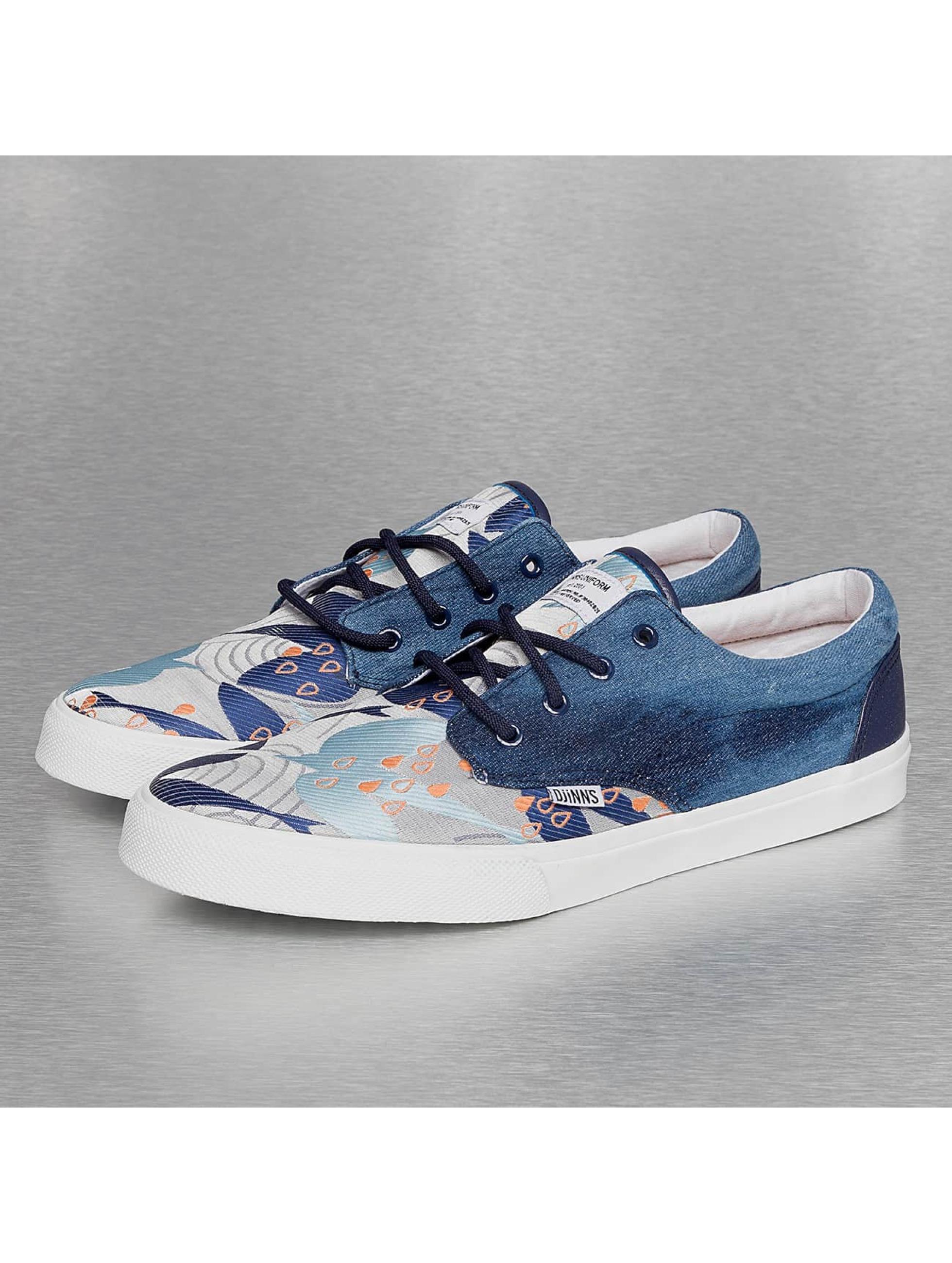 Djinns Männer Sneaker Crazy Pattern in blau