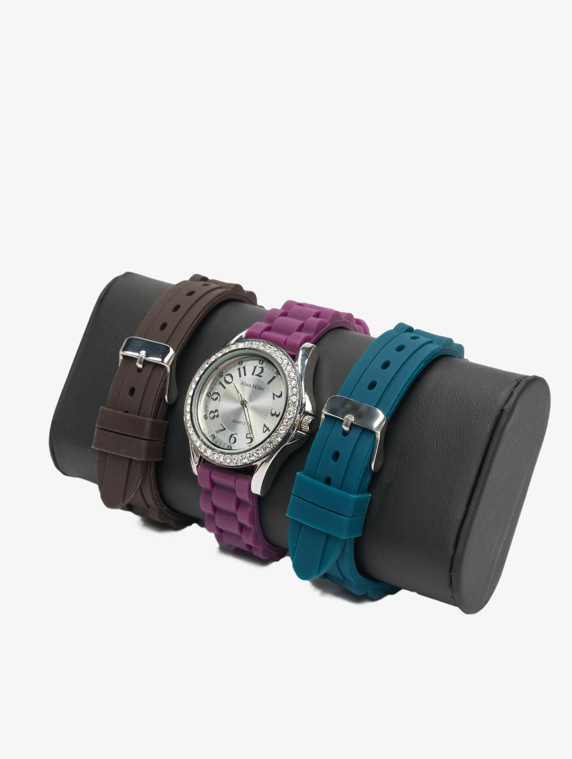 Paris Jewelry Frauen Uhr Set in violet