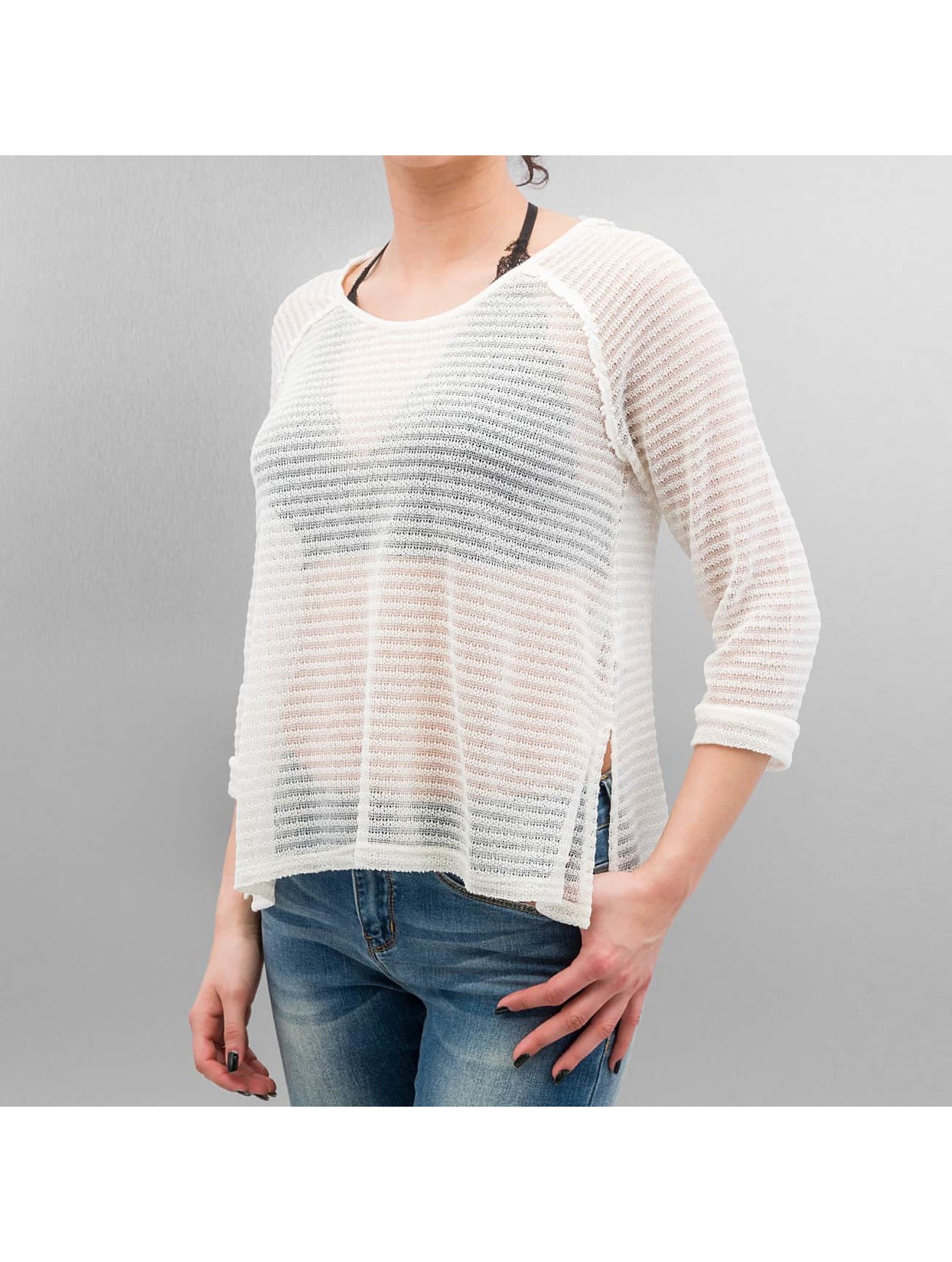 Only Frauen Pullover onlElvira Lace in weiß
