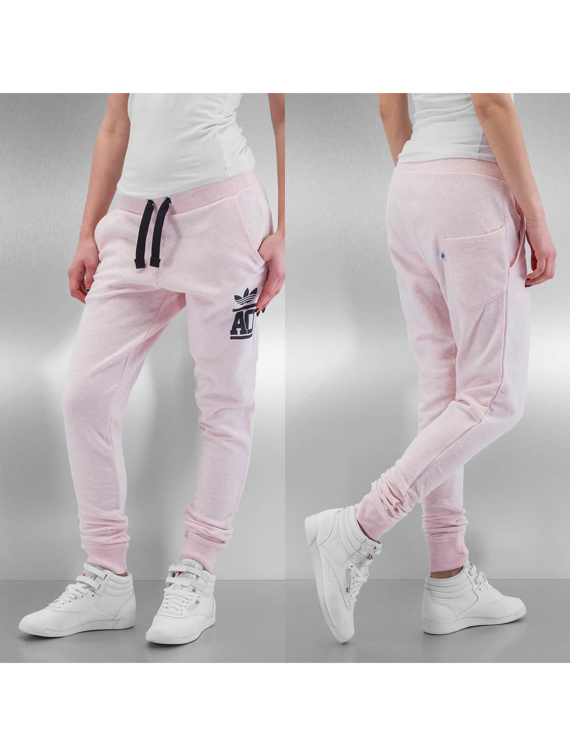 adidas Baggy French Terry Track Pants Light Vista Pink Melange