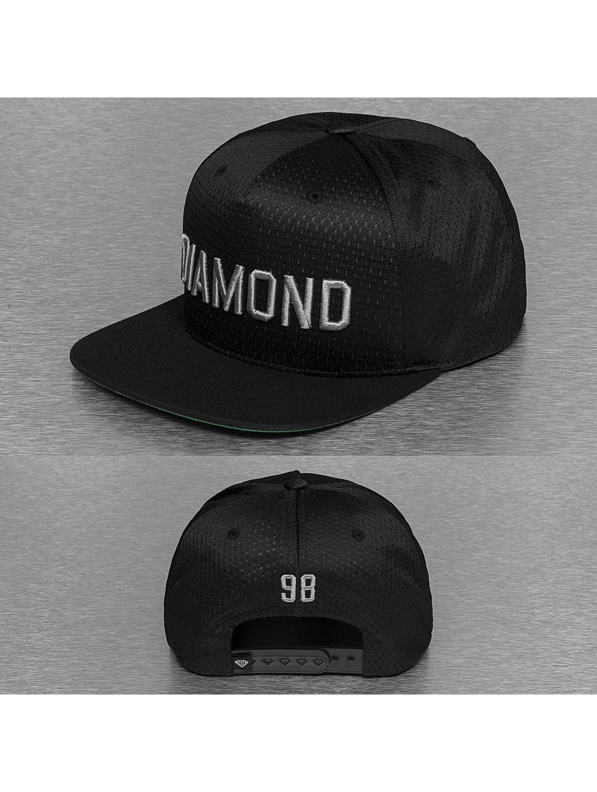 Diamond Männer Snapback Cap Jackson in schwarz