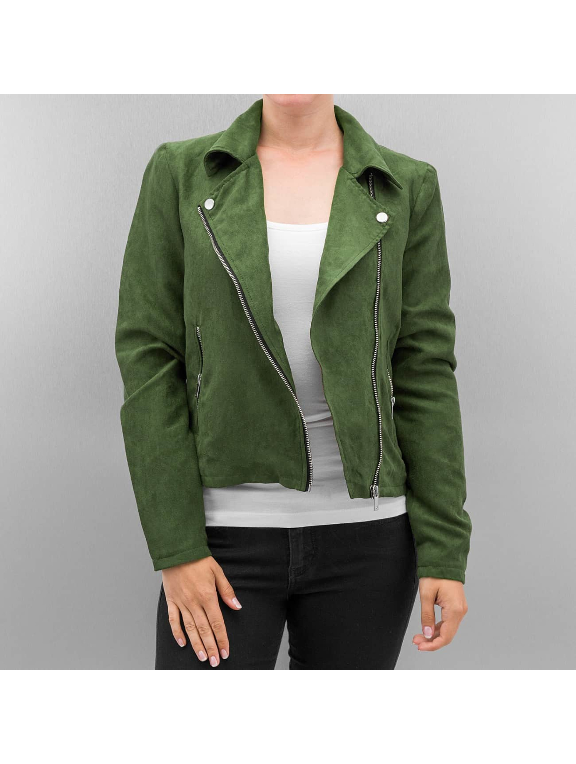 Noisy May / Leather Jacket nmLune in green