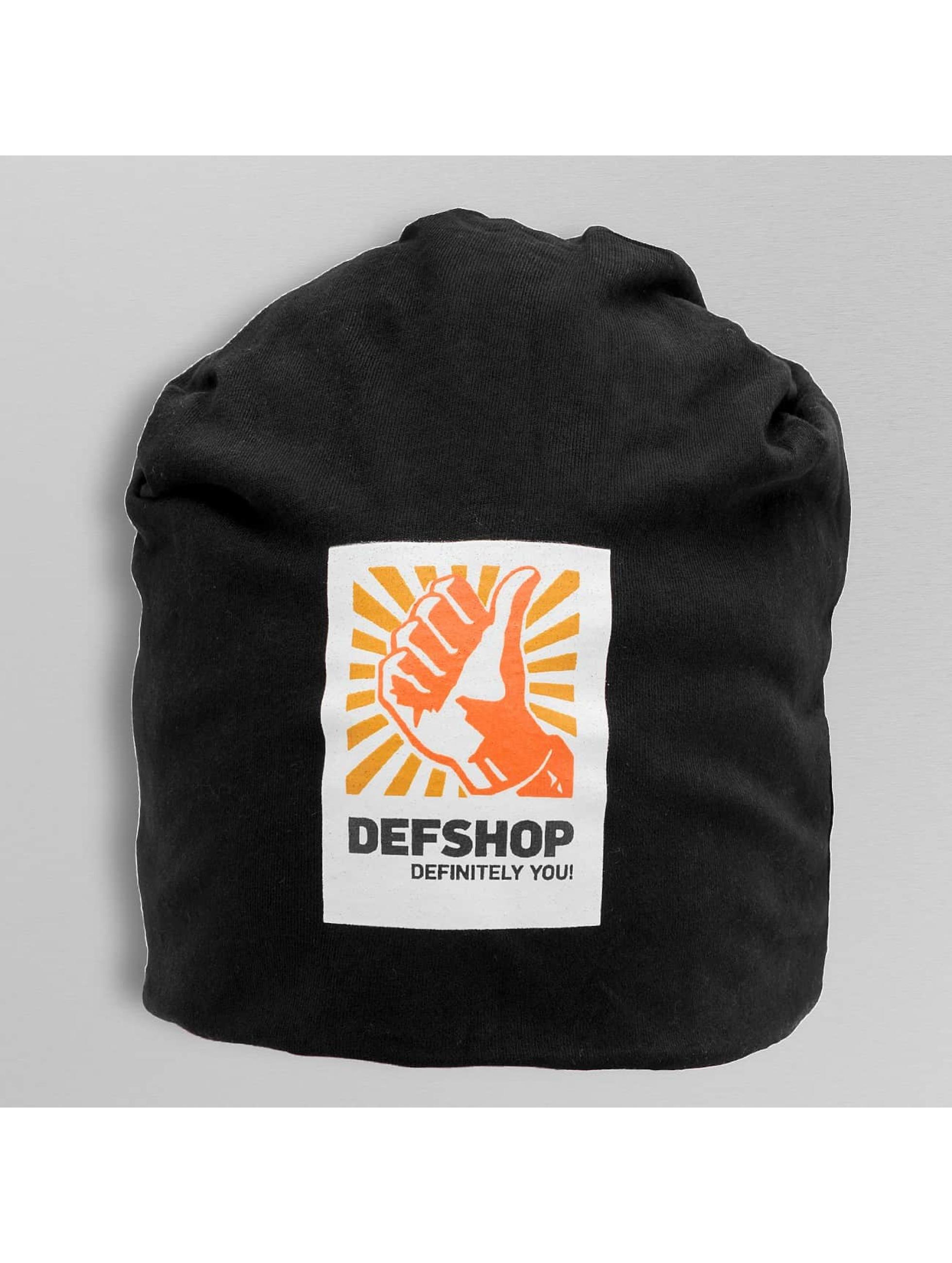 DefShop Männer,Frauen Beanie Logo in schwarz