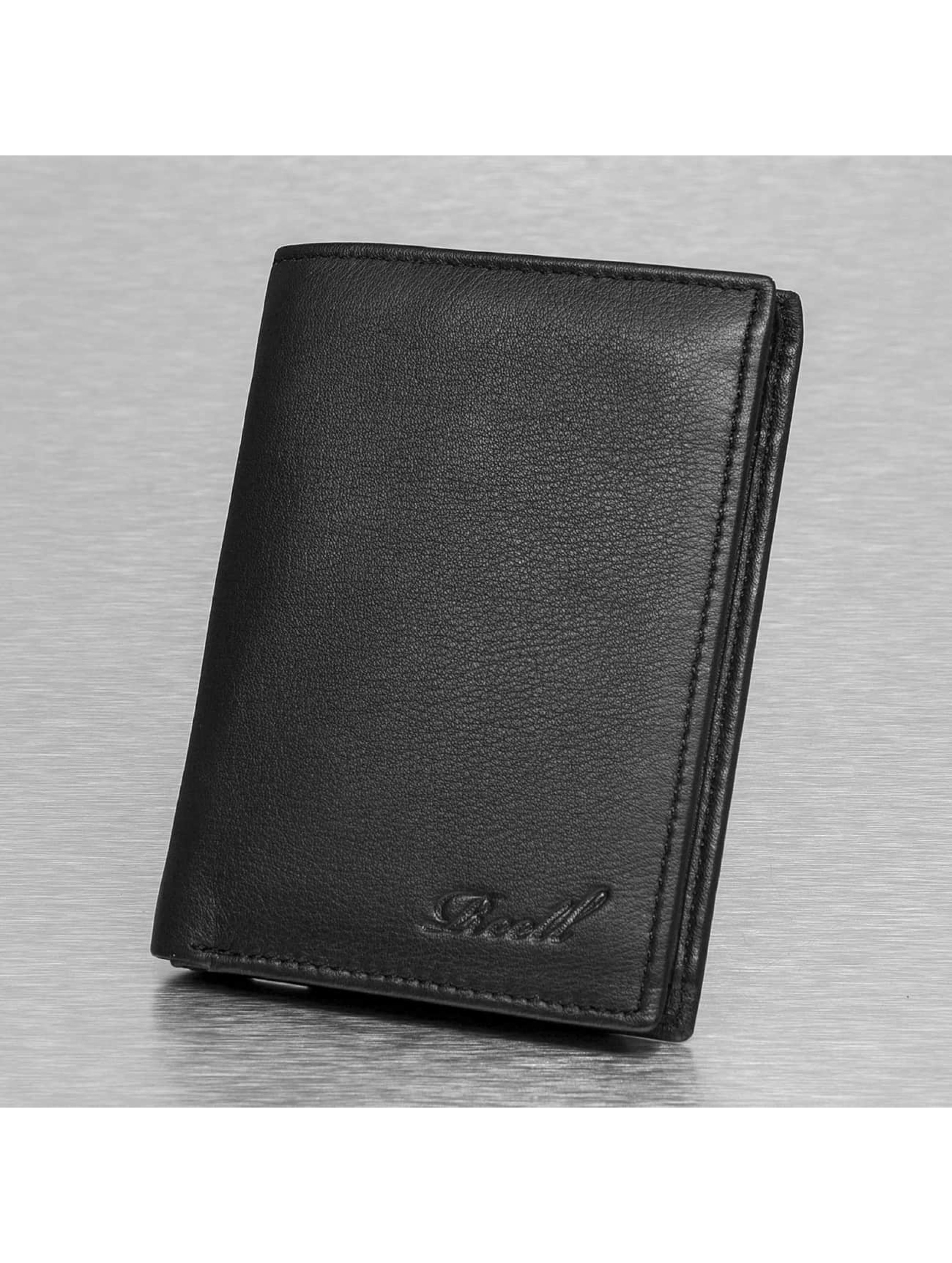 Reell Jeans Trifold Leather Wallet Black