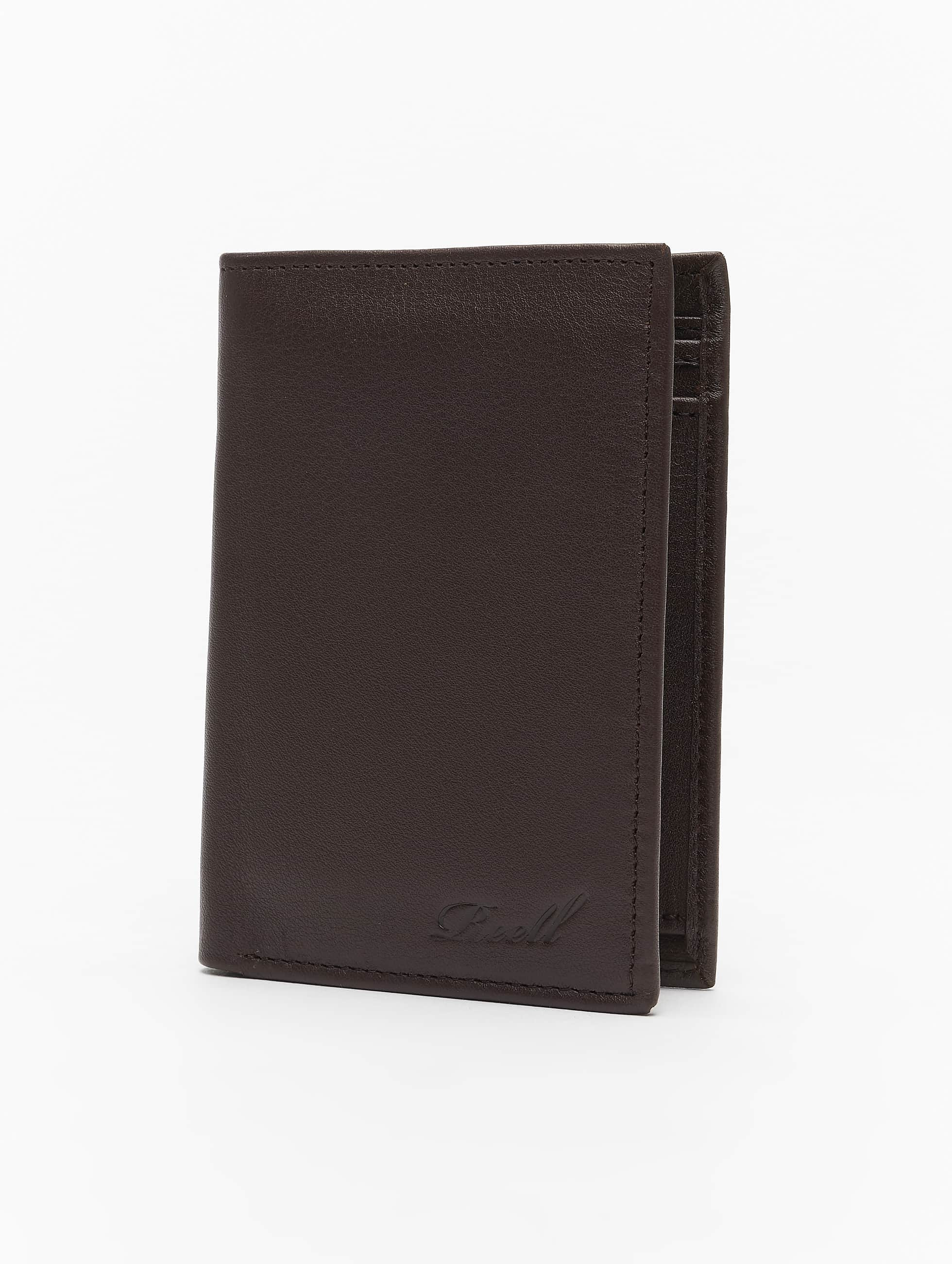 Reell Jeans Trifold Leather Wallet Brown