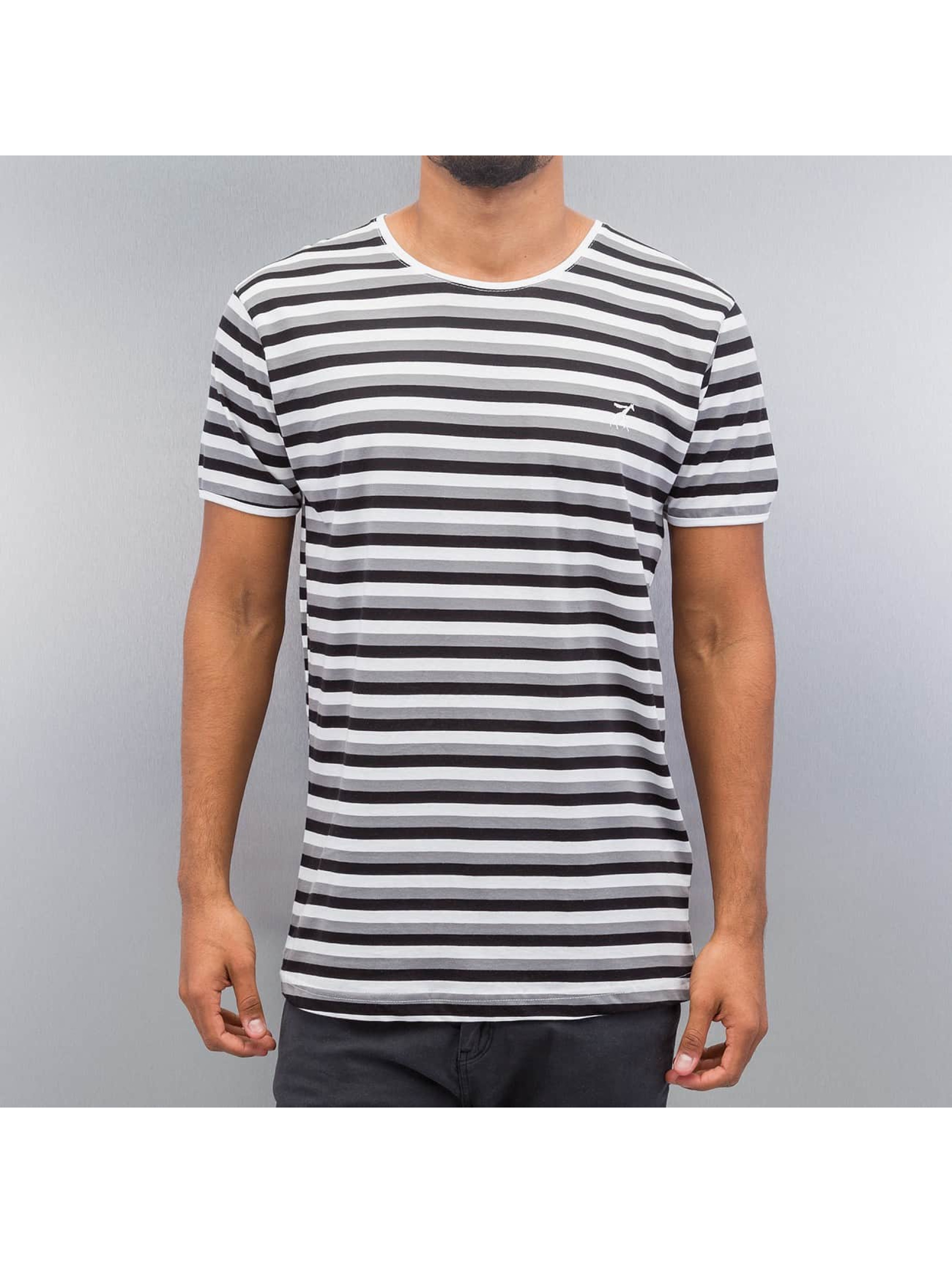 Cazzy Clang Männer T-Shirt Super Stripes in weiß