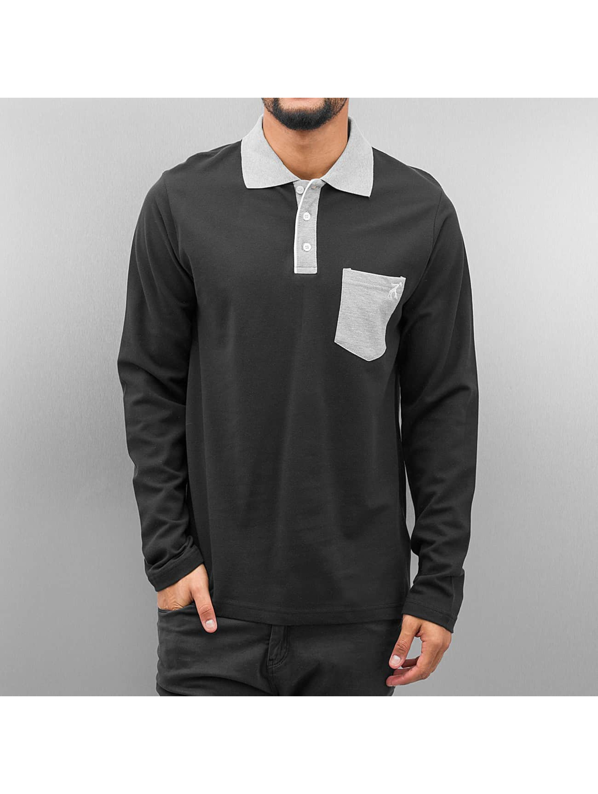 Cazzy Clang / Poloshirt Pula in black S