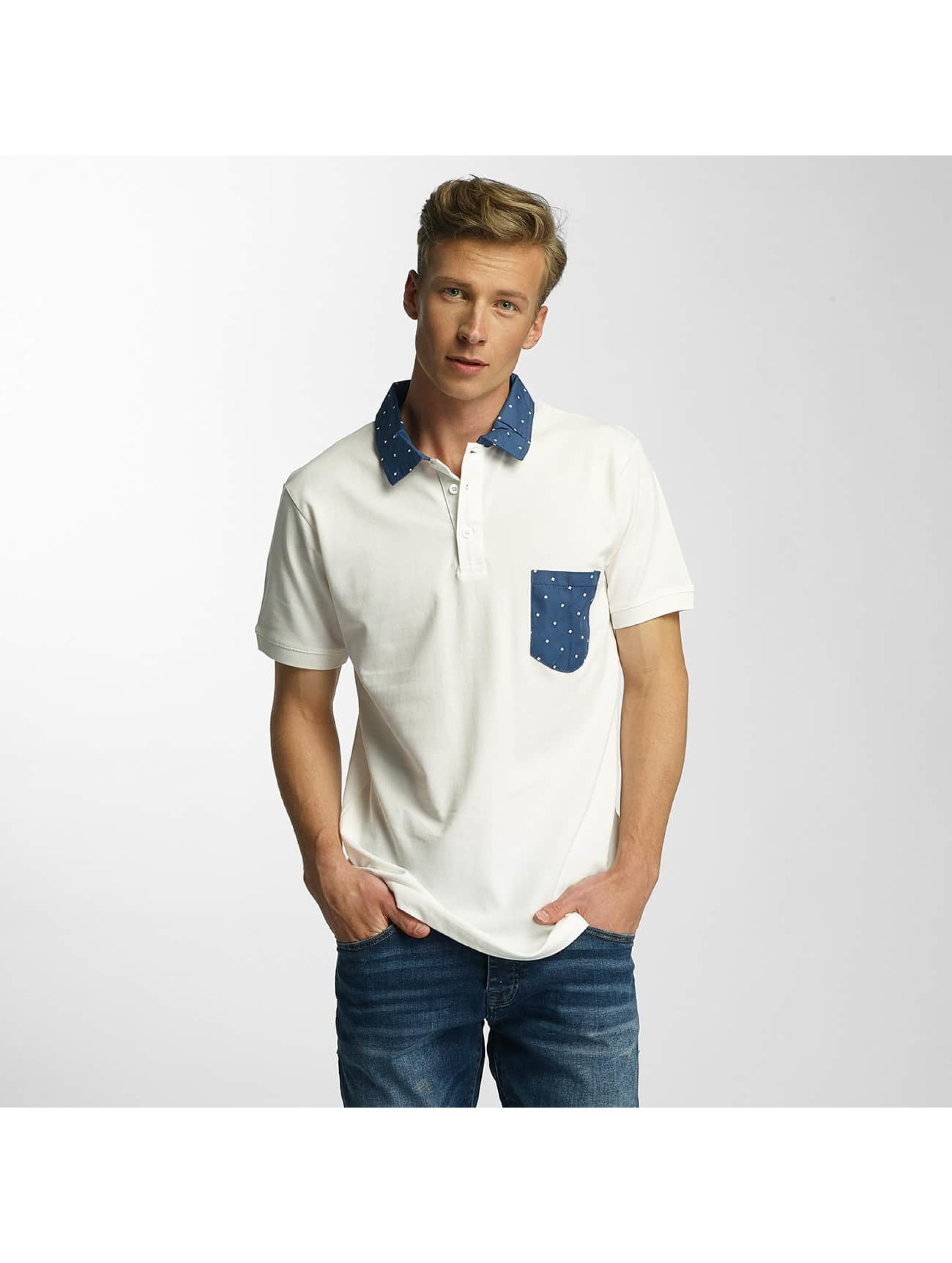Cazzy Clang Männer Poloshirt Point in weiß