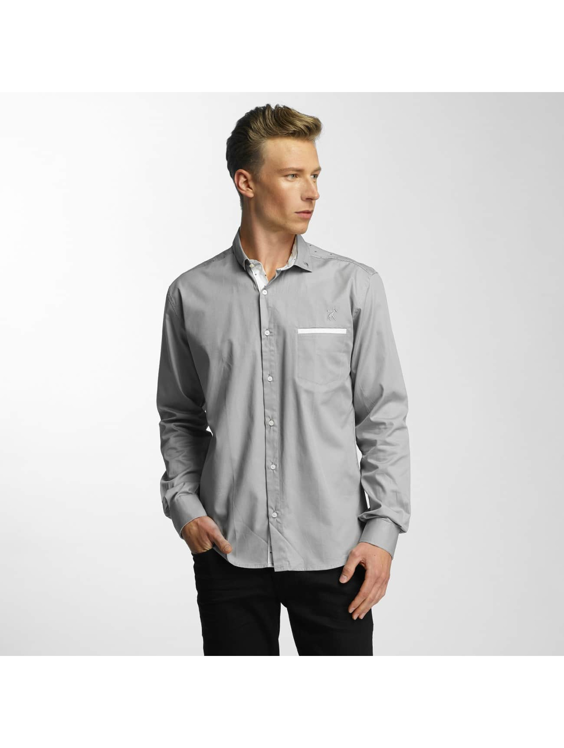 Cazzy Clang / Shirt Squares in grey XL
