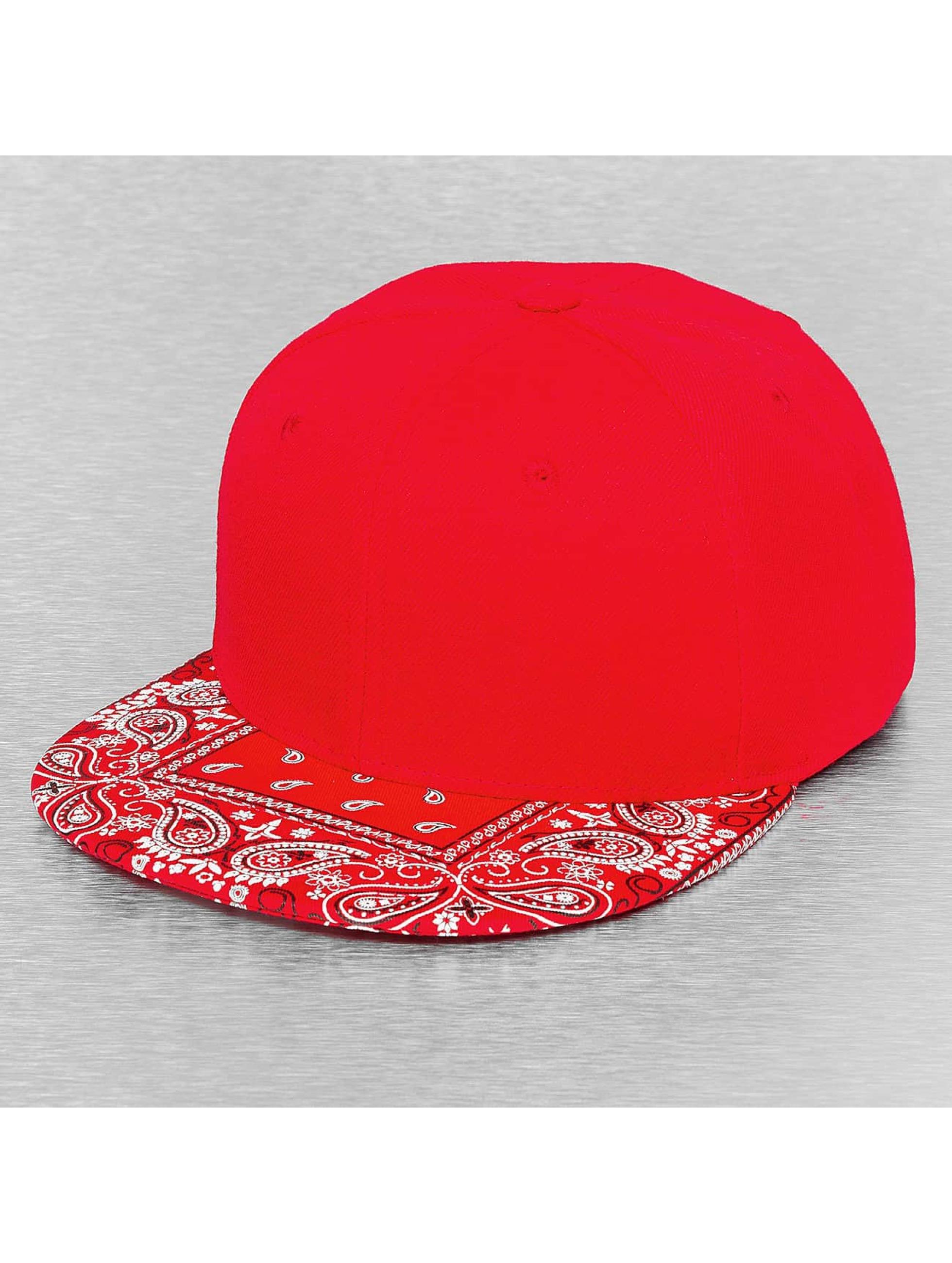 Decky USA Männer,Frauen Snapback Cap Bandanna in rot