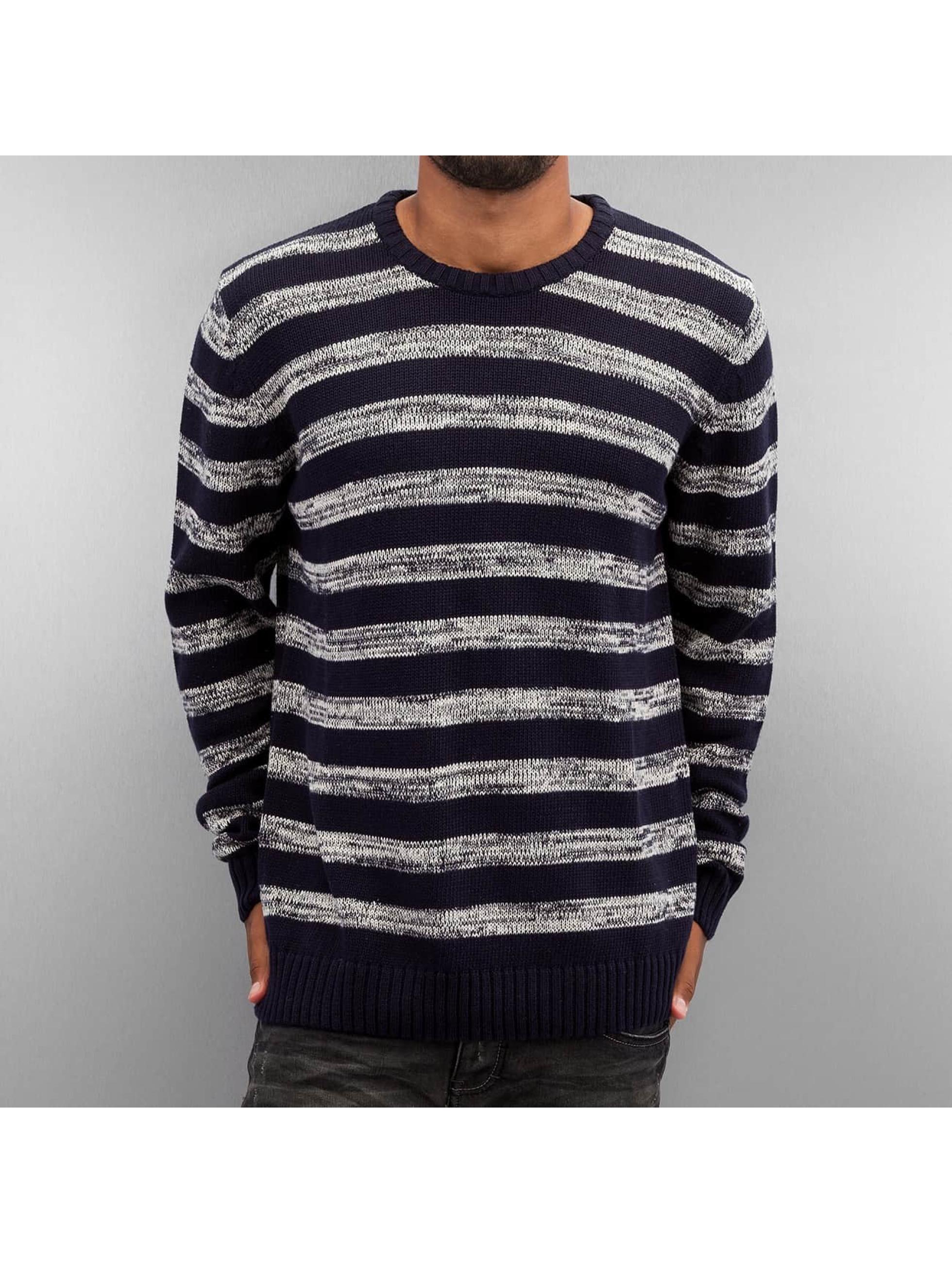 Solid Männer Pullover Knit Duncan in blau