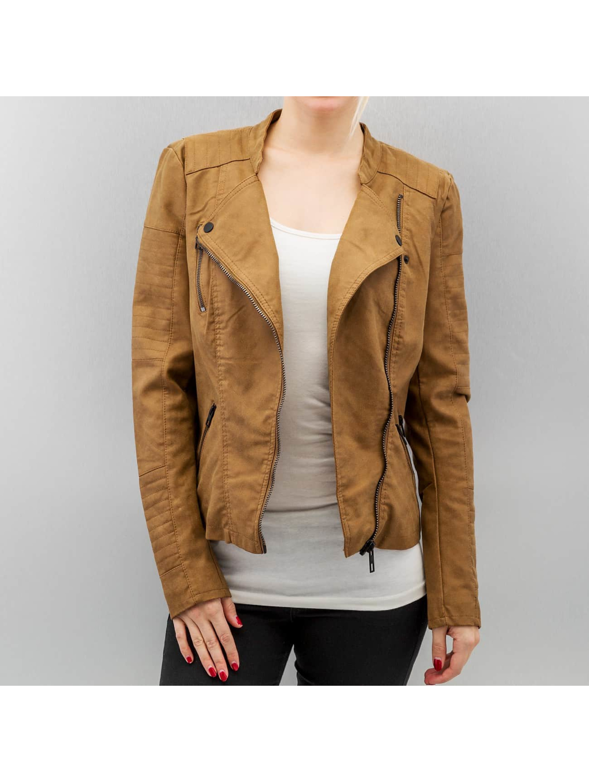 Only Frauen Lederjacke onlAva Faux Leather in braun Sale Angebote Proschim