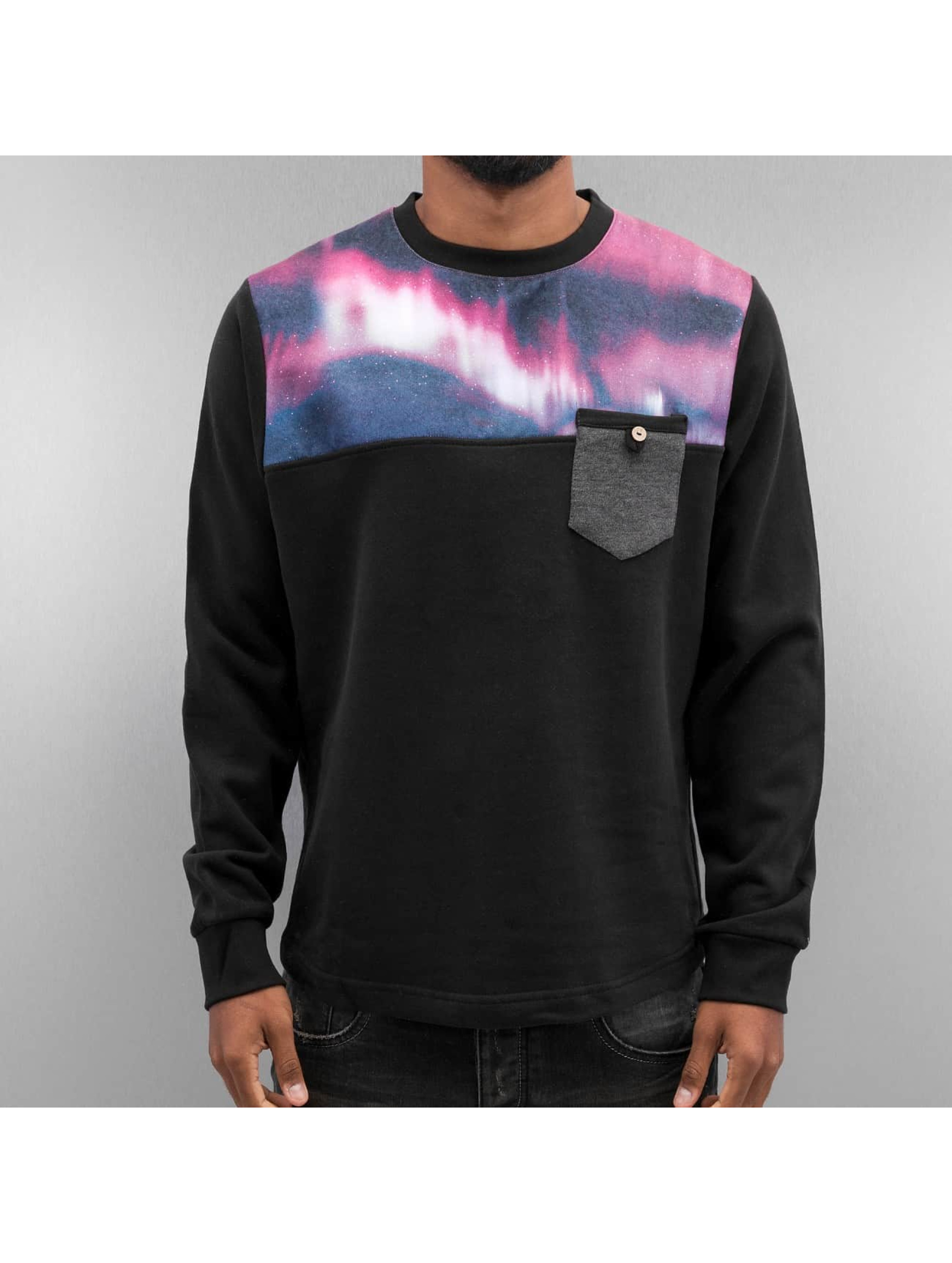 Just Rhyse Männer Pullover Nightlights in schwarz