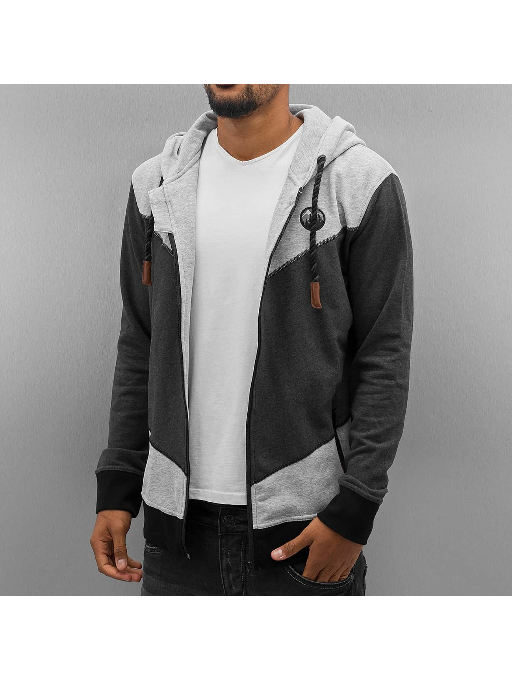 Just Rhyse Yorick Zip Hoody Black/Grey