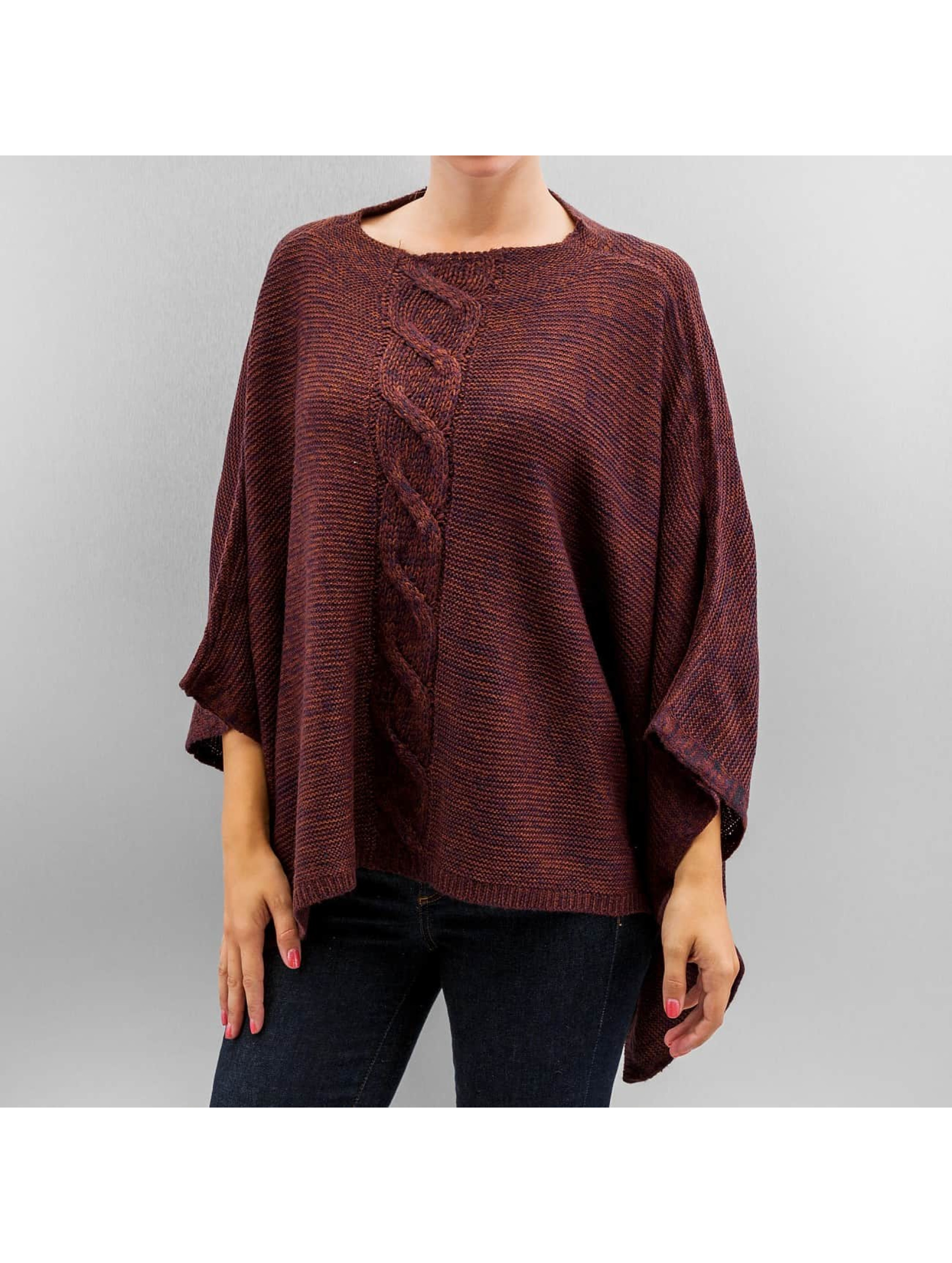 Only Frauen Pullover onlAustin Poncho in rot