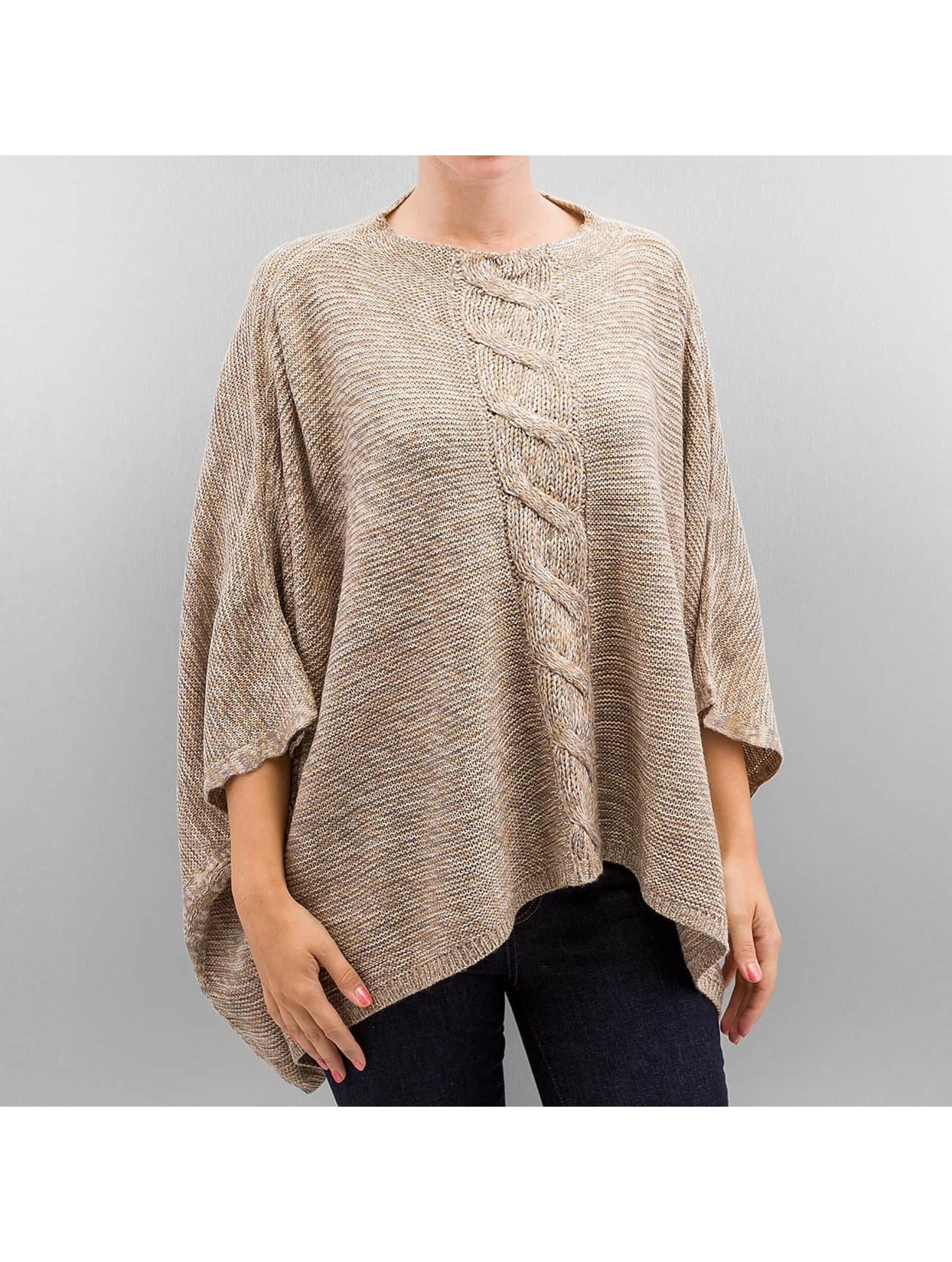 Only Frauen Pullover onlAustin Poncho in beige