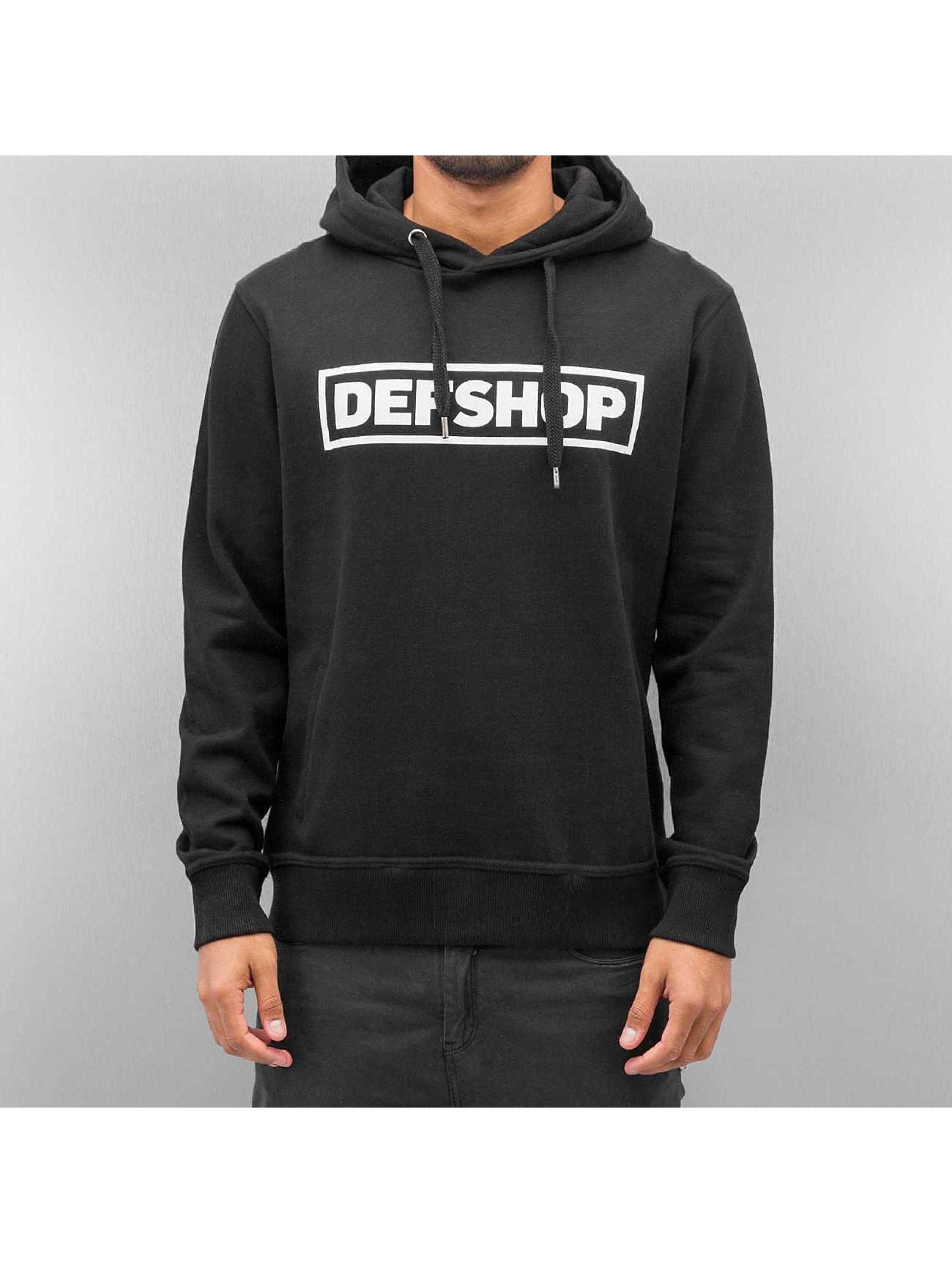 DefShop Männer Hoody Logo in schwarz