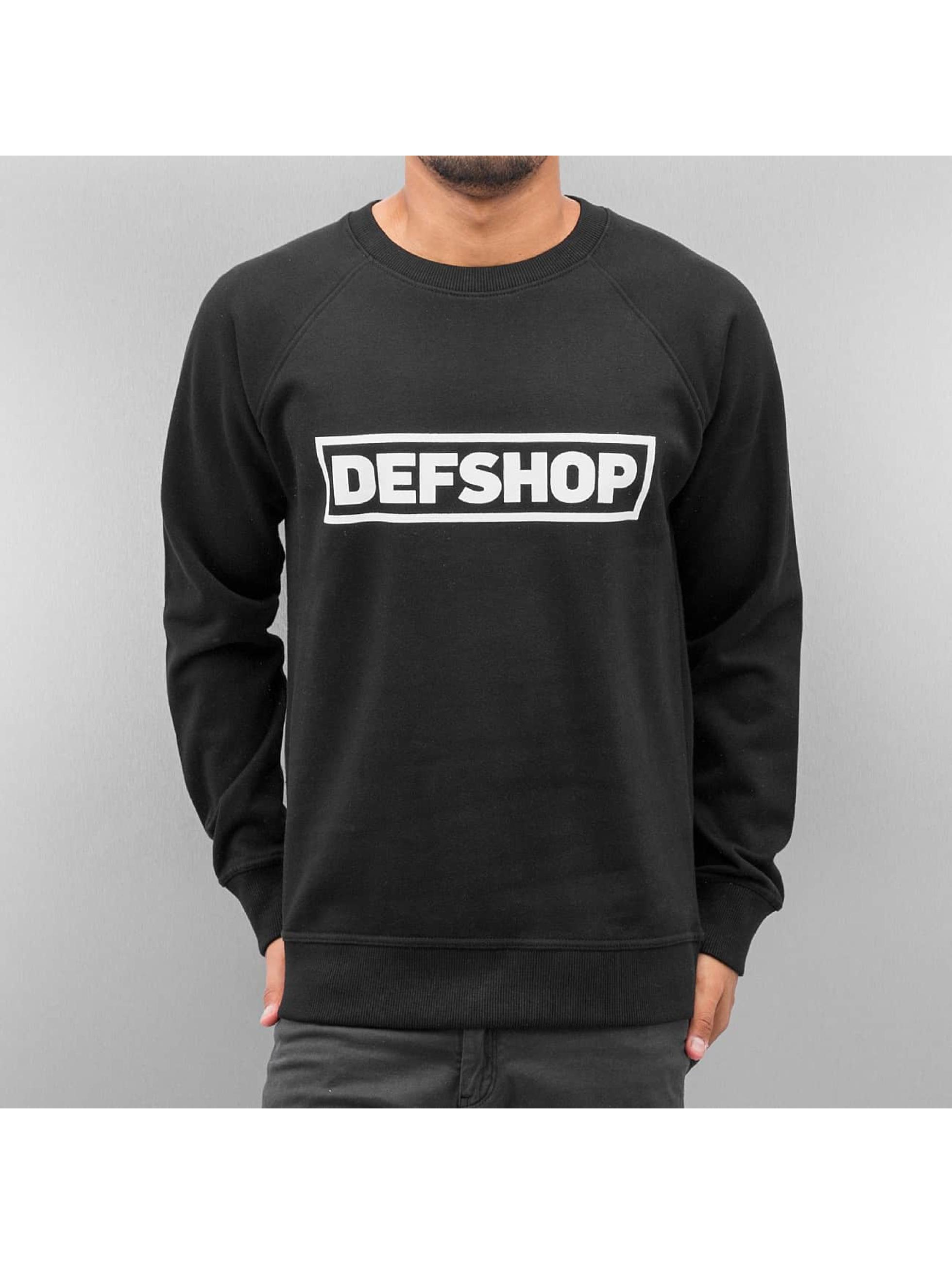 DefShop Männer Pullover Logo in schwarz