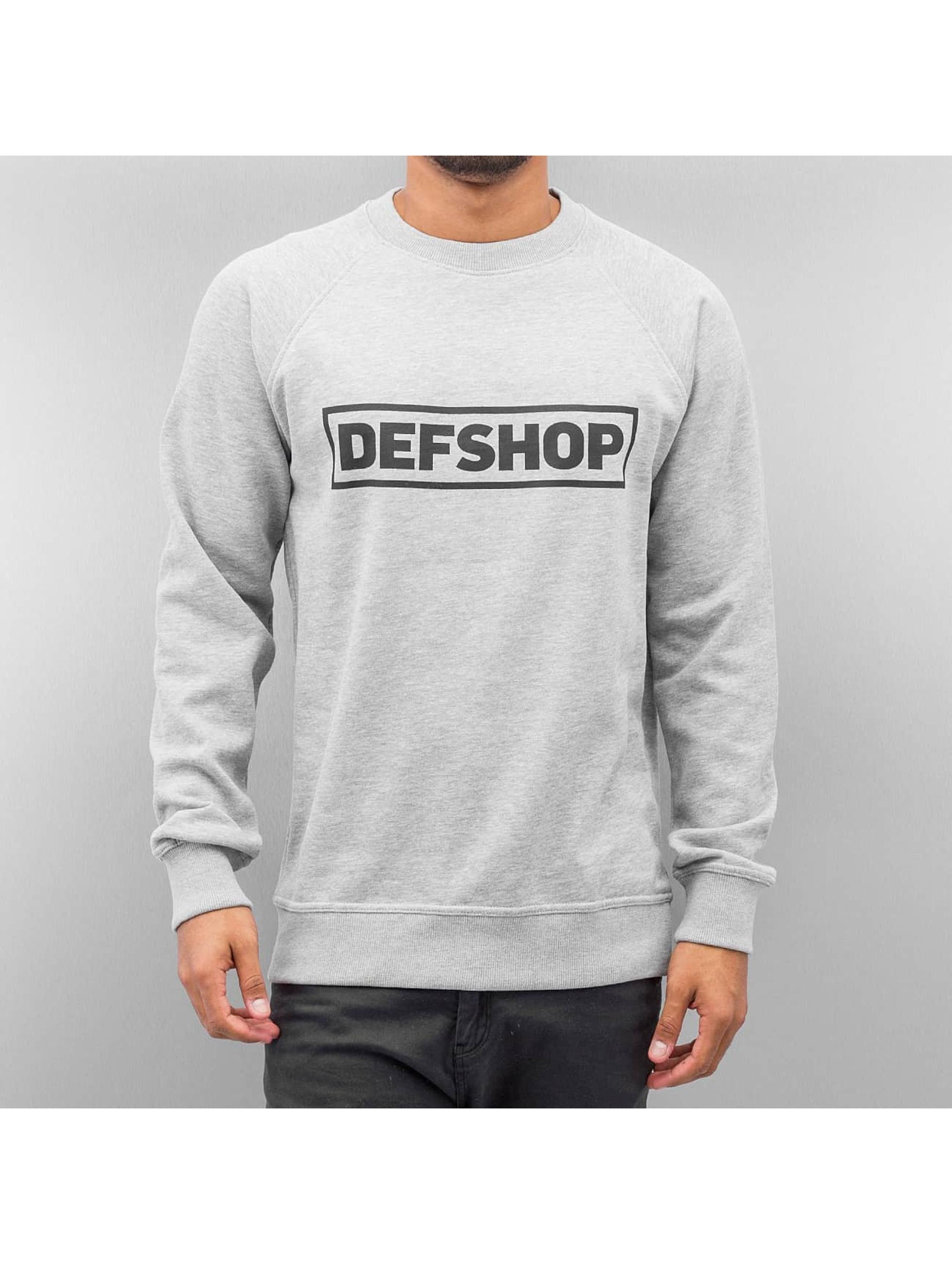 DefShop Männer Pullover Logo in grau