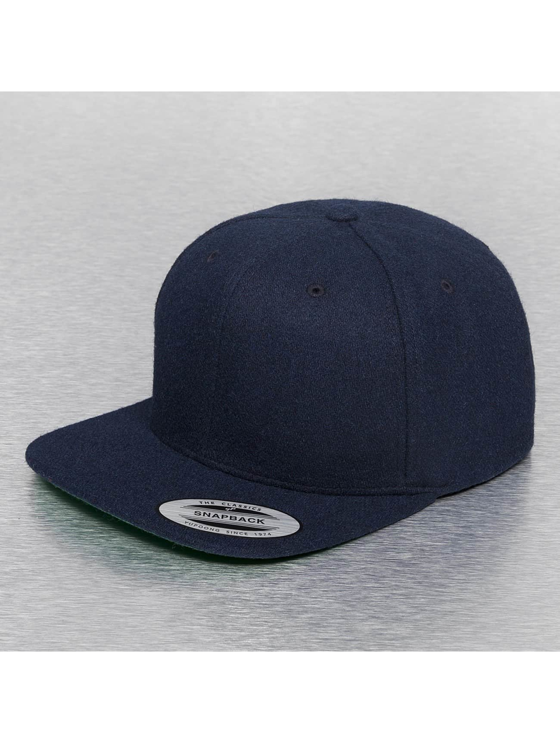 Flexfit Männer,Frauen Snapback Cap Melton Wool in blau