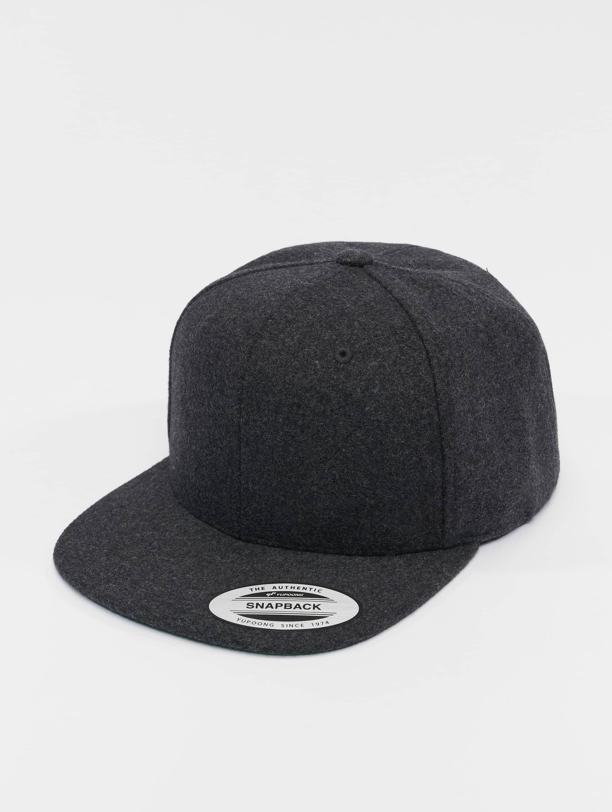 Flexfit Männer,Frauen Snapback Cap Melton Wool in grau