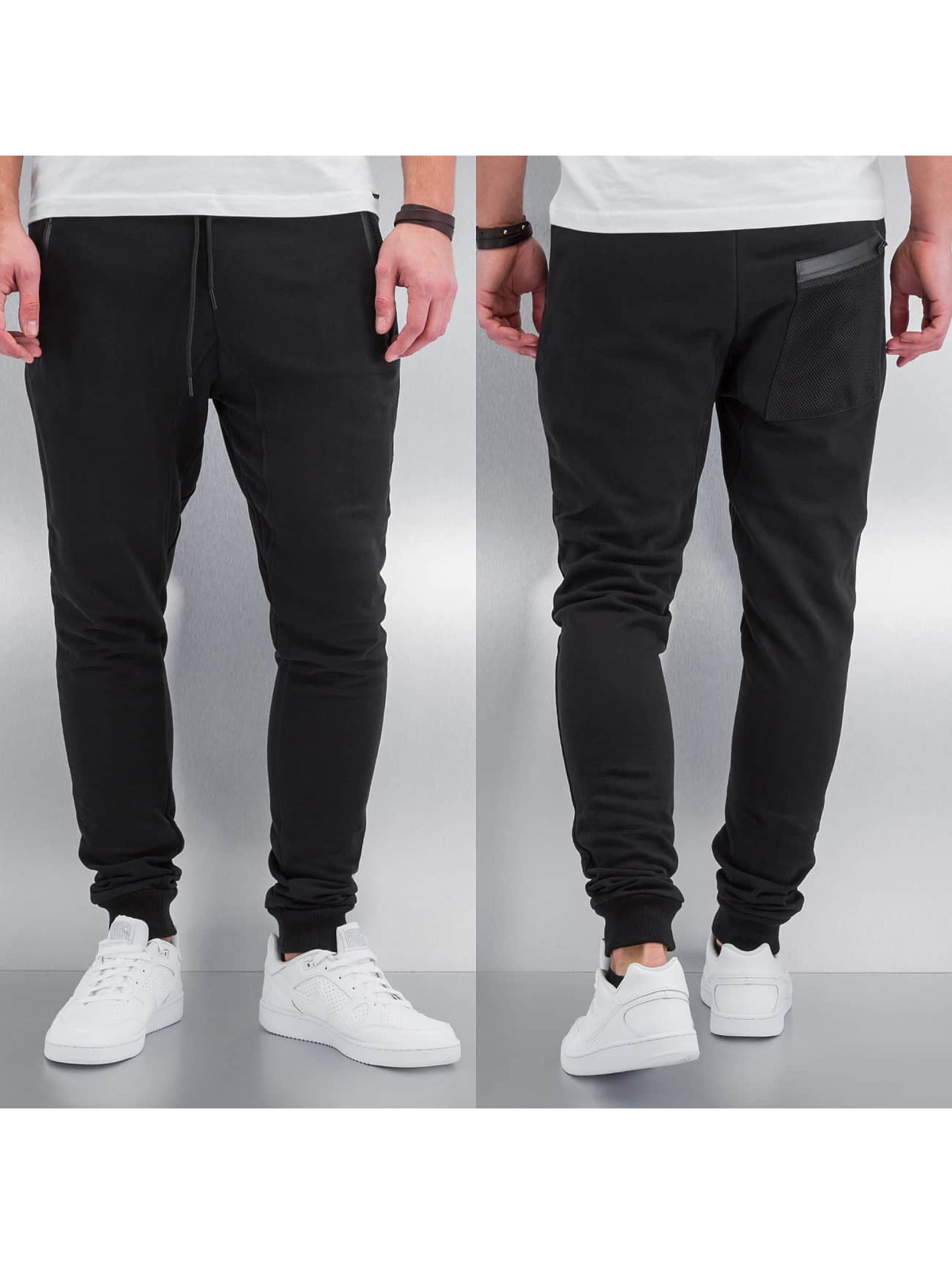 Urban Classics Peached Tech Sweatpants Black Black