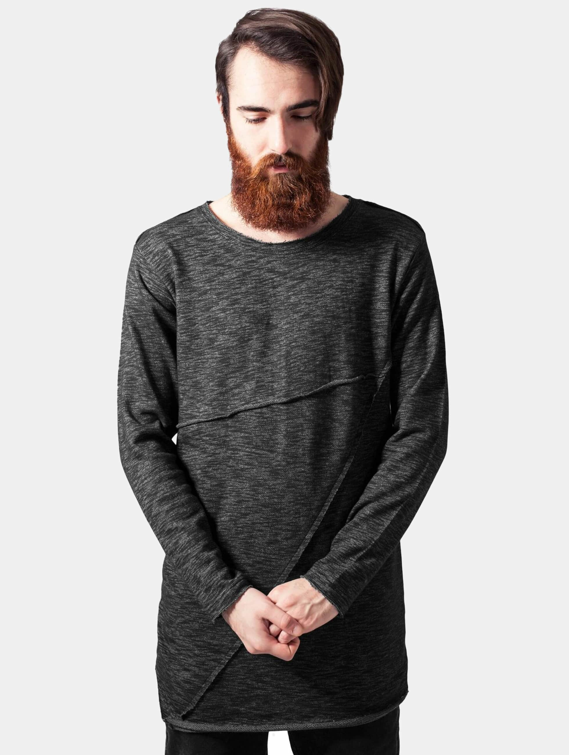 Urban Classics Männer Pullover Fashion Long Terry in schwarz