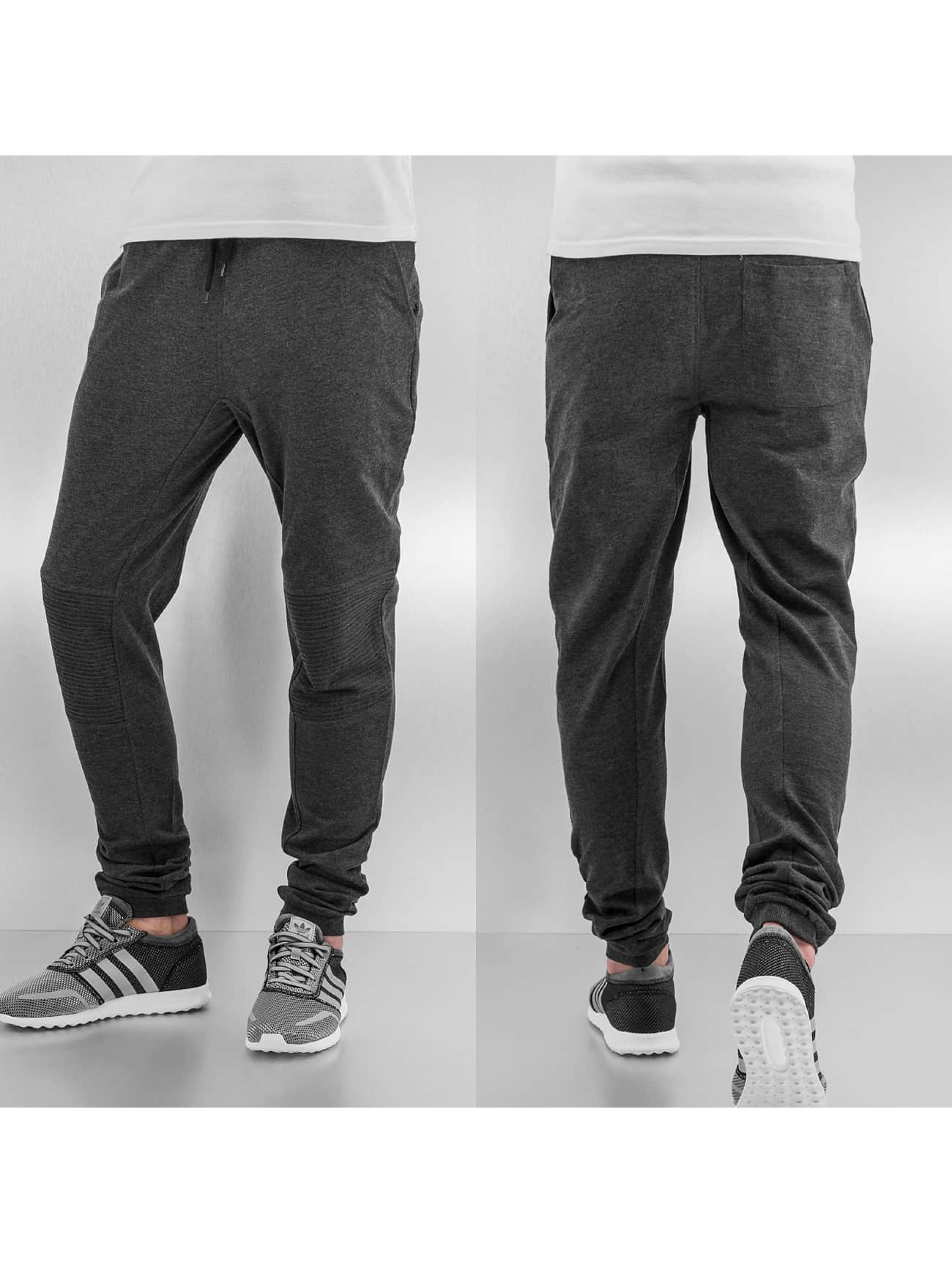 Urban Classics Deep Crotch Terry Biker Sweatpants Charcoal