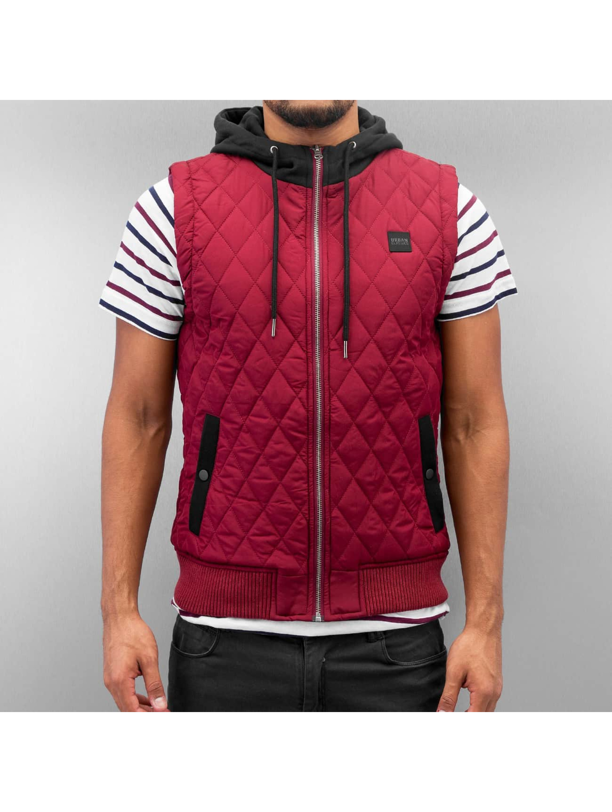 Urban Classics Безрукавка Diamond Quilted красный
