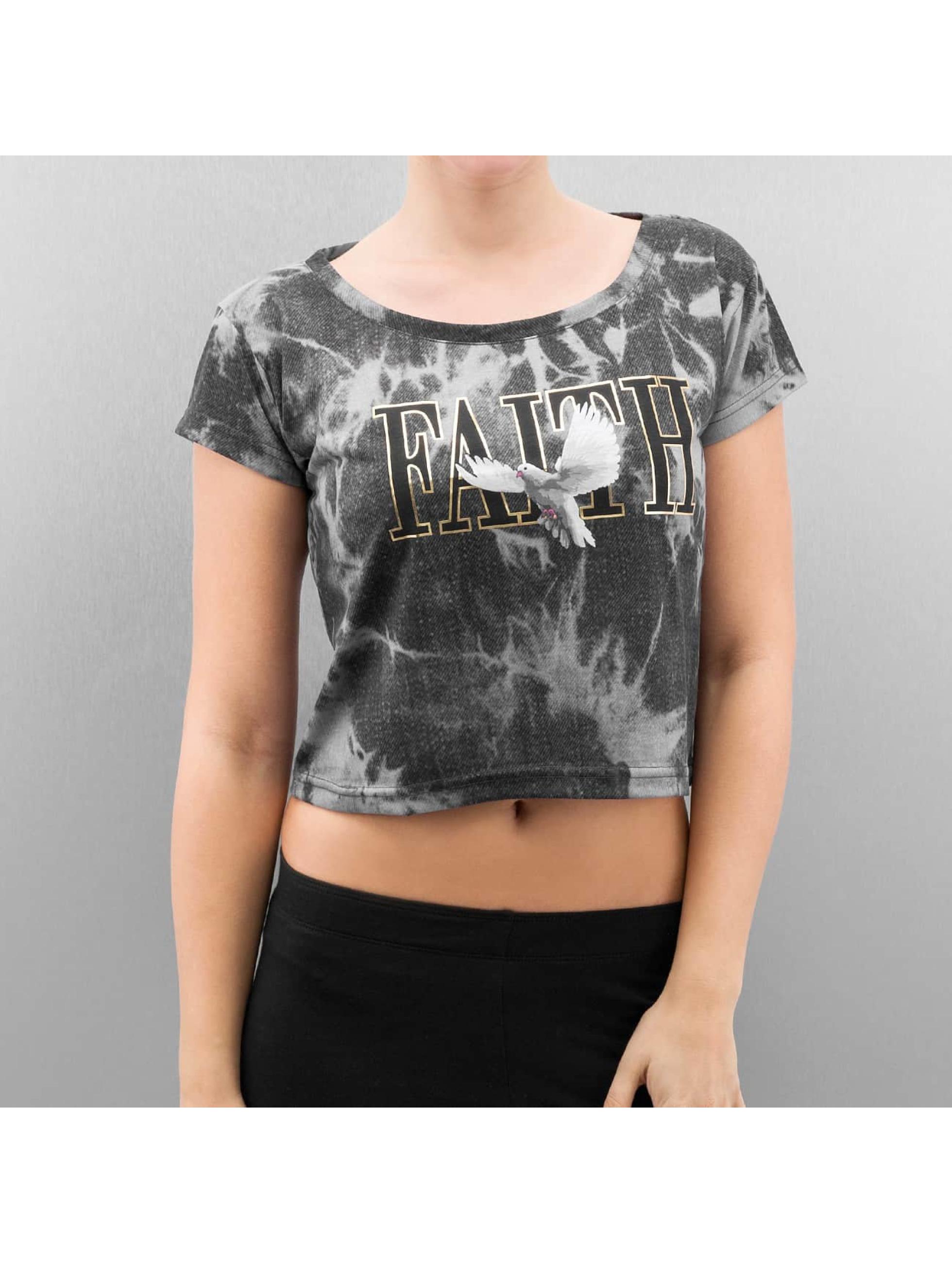 Cayler & Sons Frauen T-Shirt SL Faith Crop in grau