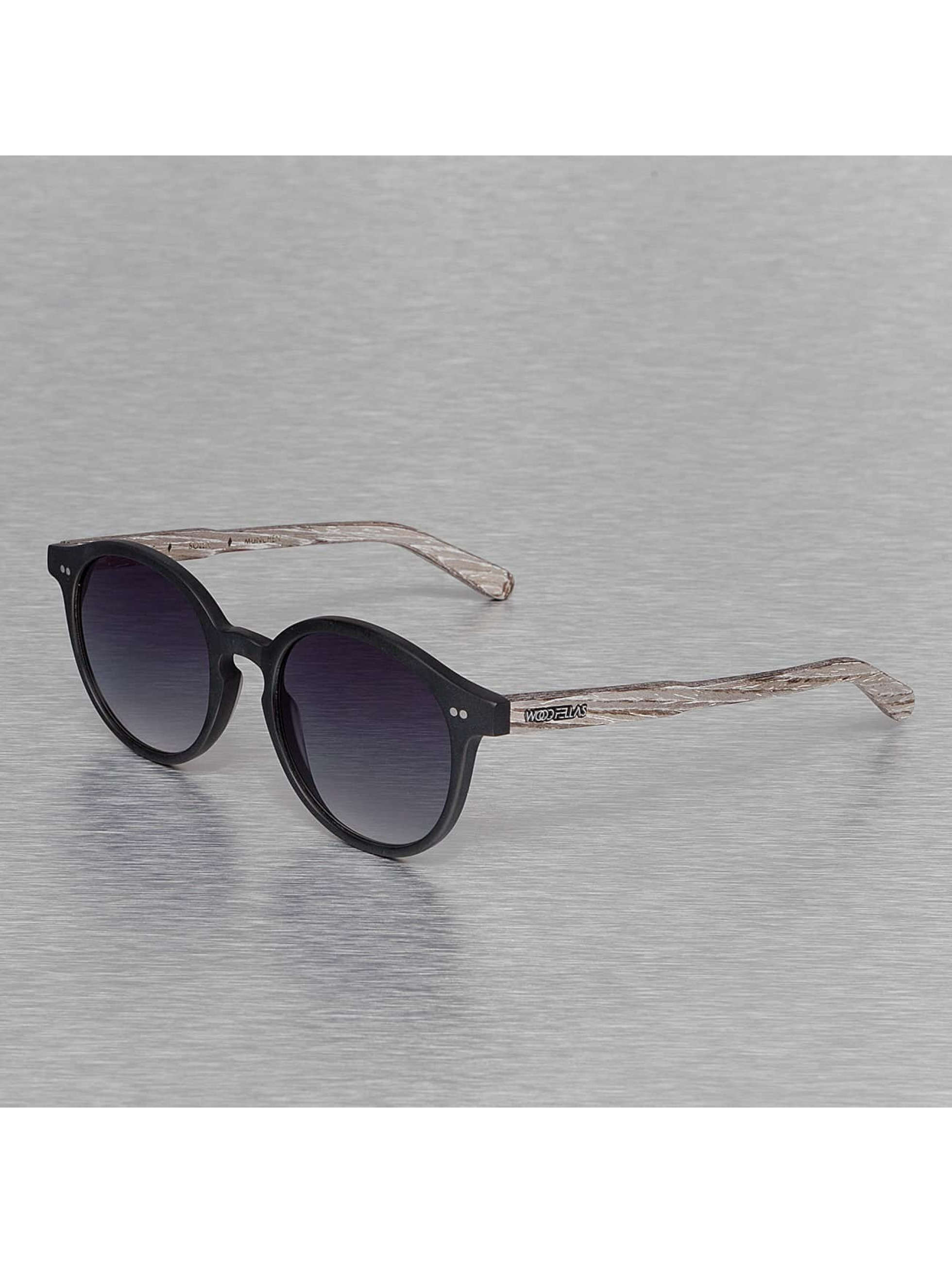 Wood Fellas Eyewear Männer,Frauen Sonnenbrille Eyewear Solln Polarized Mirror in schwarz