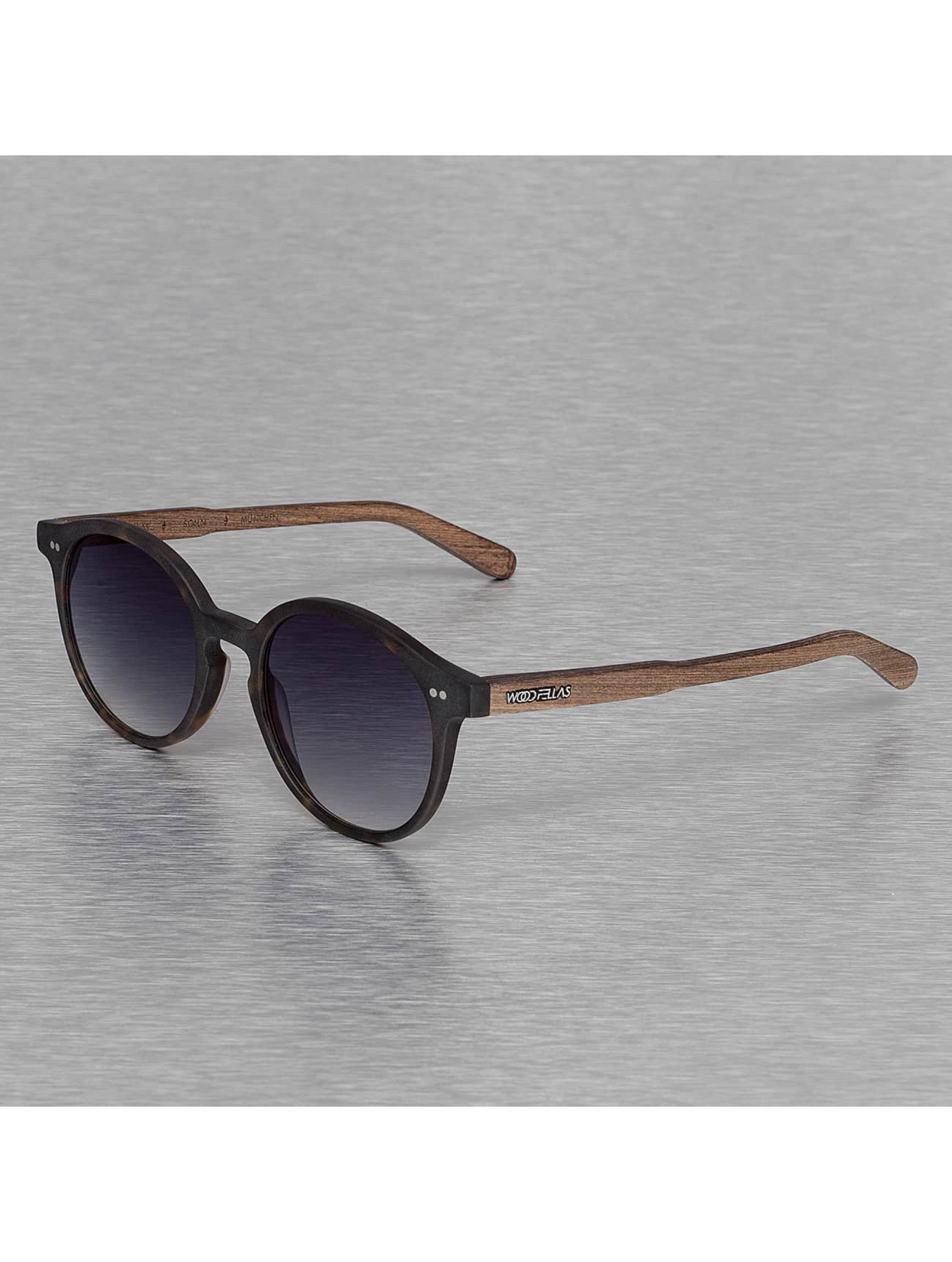 Wood Fellas Eyewear Männer,Frauen Sonnenbrille Eyewear Solln Polarized Mirror in braun