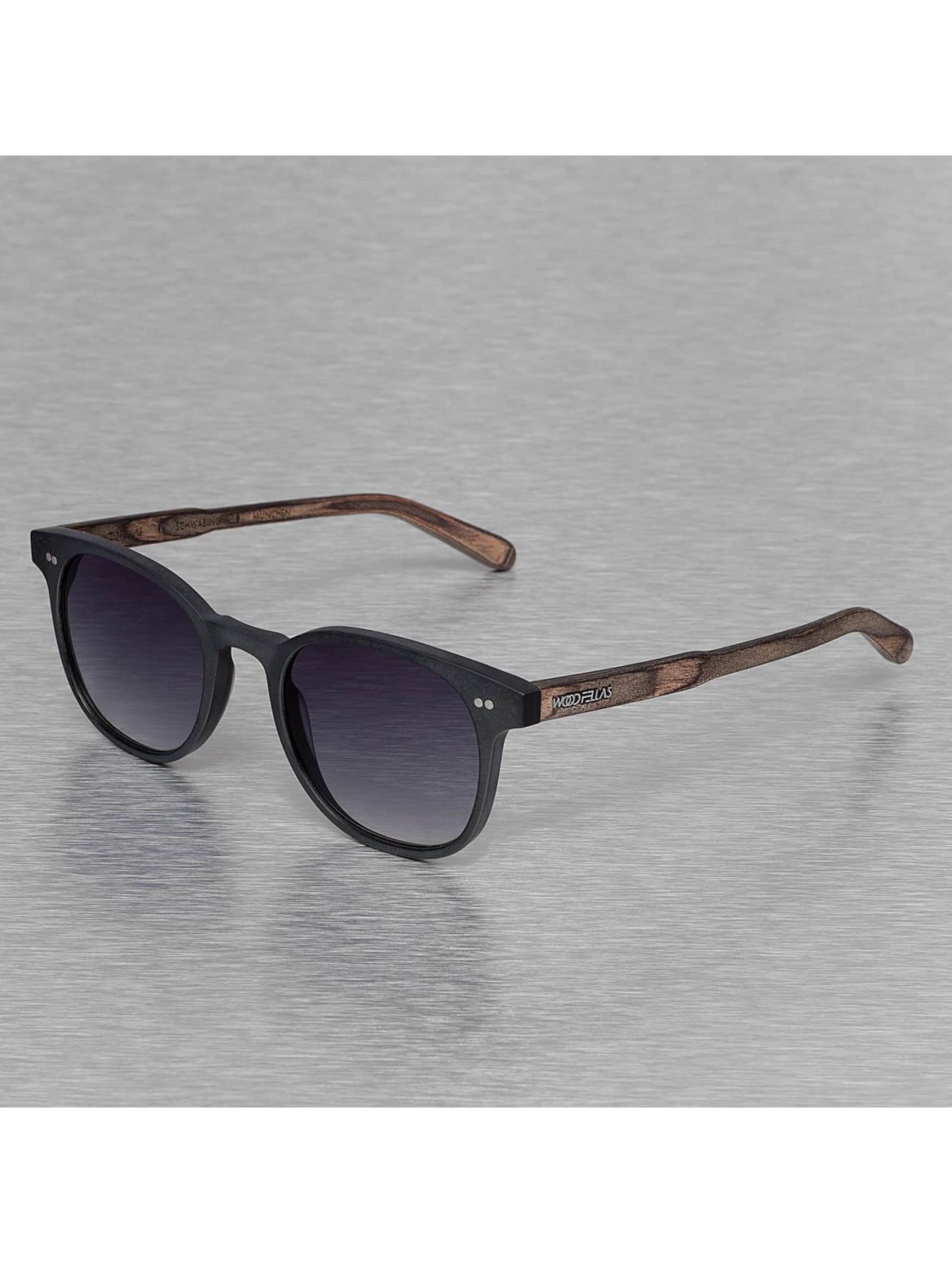 Wood Fellas Eyewear Männer,Frauen Sonnenbrille Eyewear Schwabing Polarized Mirror in schwarz