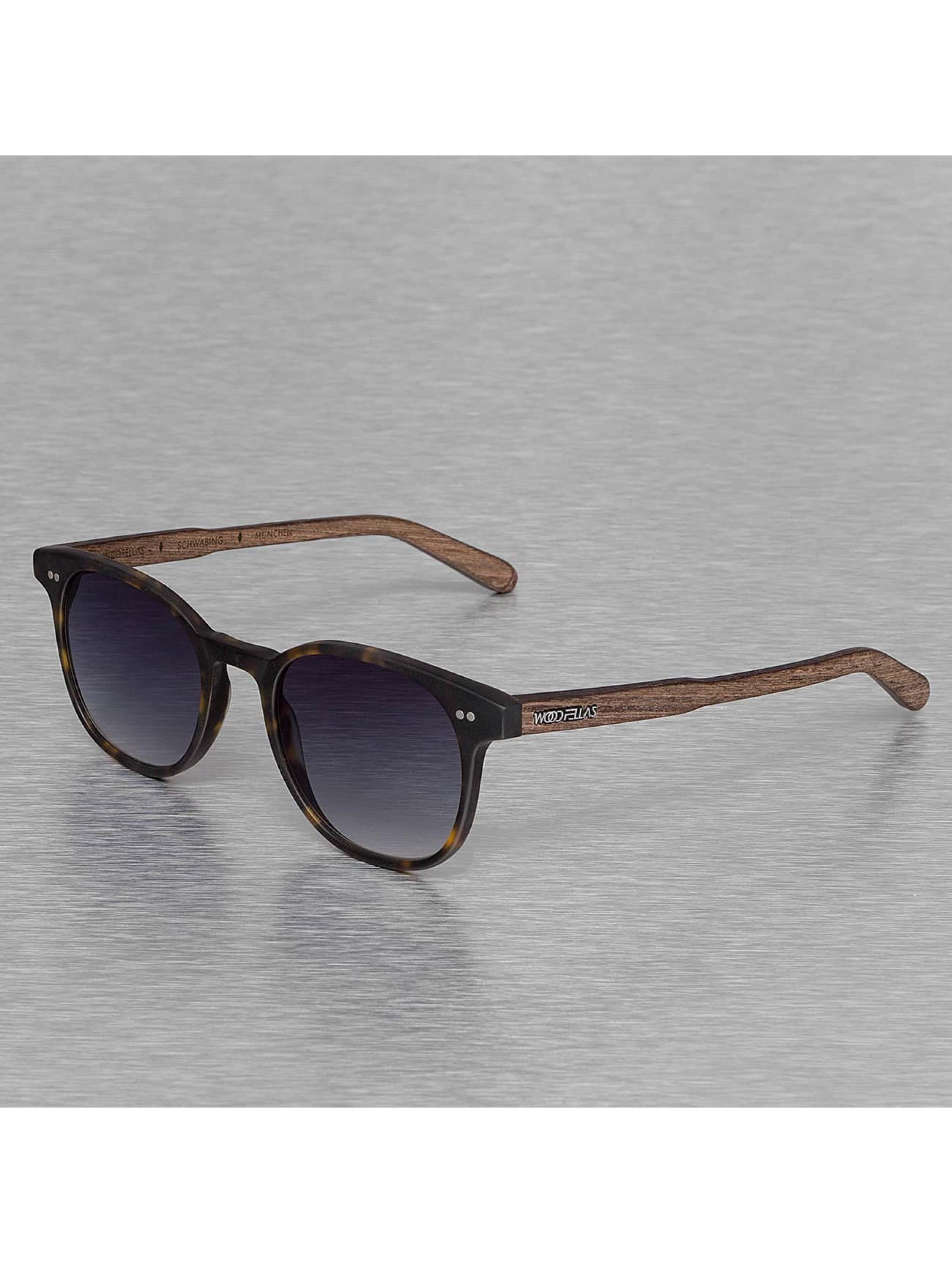 Wood Fellas Eyewear Männer,Frauen Sonnenbrille Eyewear Schwabing Polarized Mirror in braun